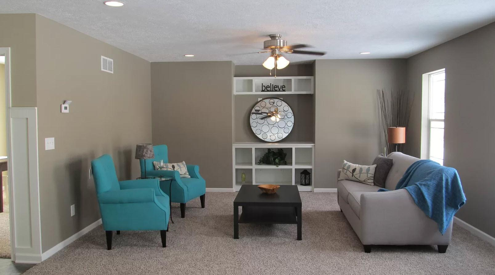 Living Area featured in the Clinton By Oak Ridge Homes in Lansing, MI