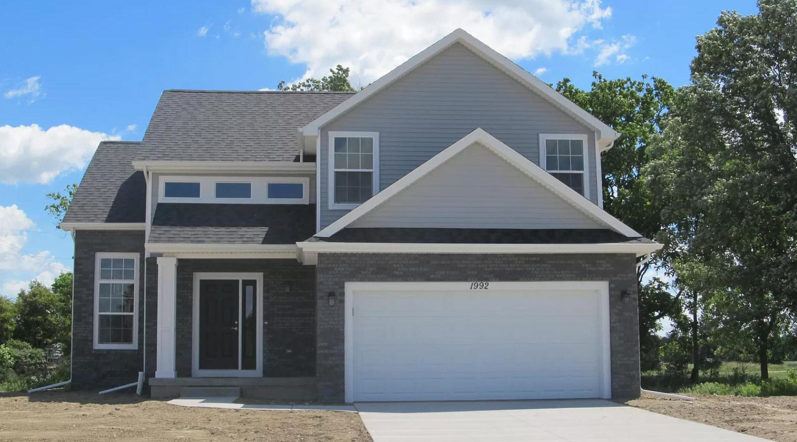 Exterior featured in the Stanford By Oak Ridge Homes in Ann Arbor, MI