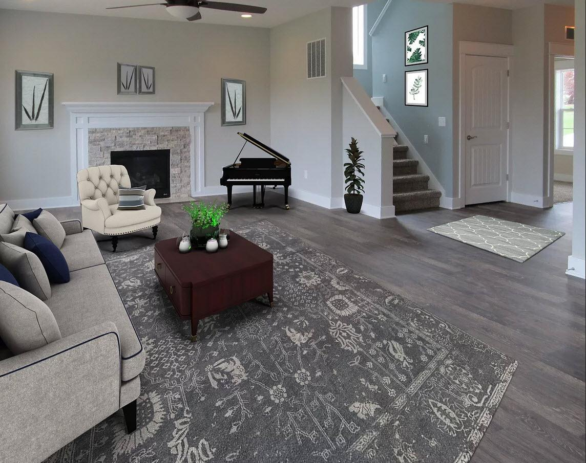 Living Area featured in the Wellington By Oak Ridge Homes in Ann Arbor, MI