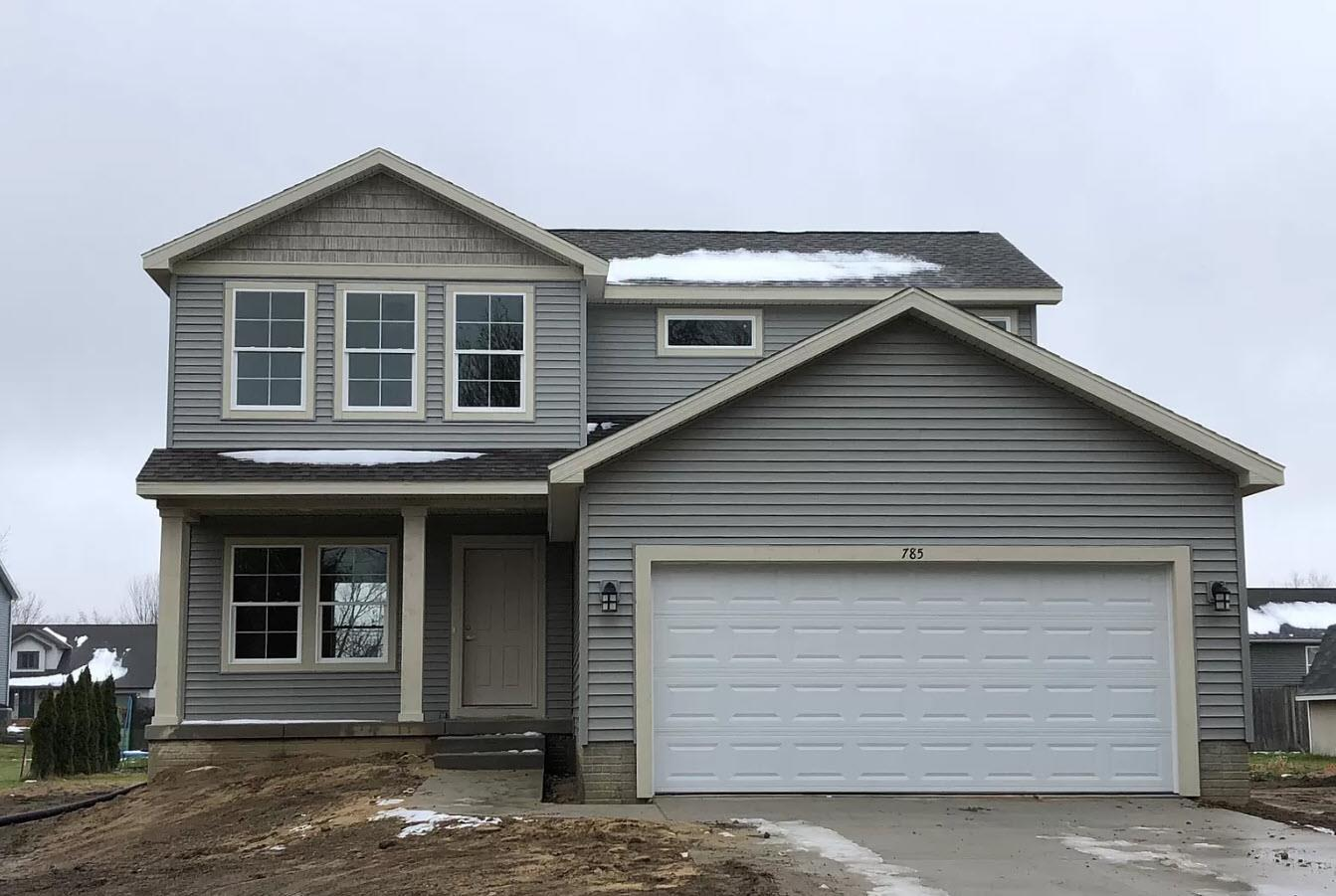 Exterior featured in the Addison By Oak Ridge Homes in Lansing, MI