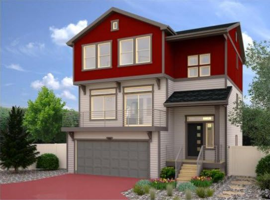 Exterior featured in the Volante By Oakwood Homes Colorado in Colorado Springs, CO