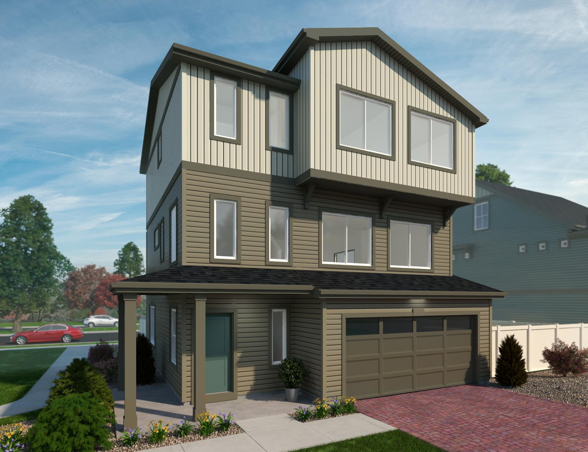 Exterior featured in the St. Julien By Oakwood Homes Colorado in Colorado Springs, CO