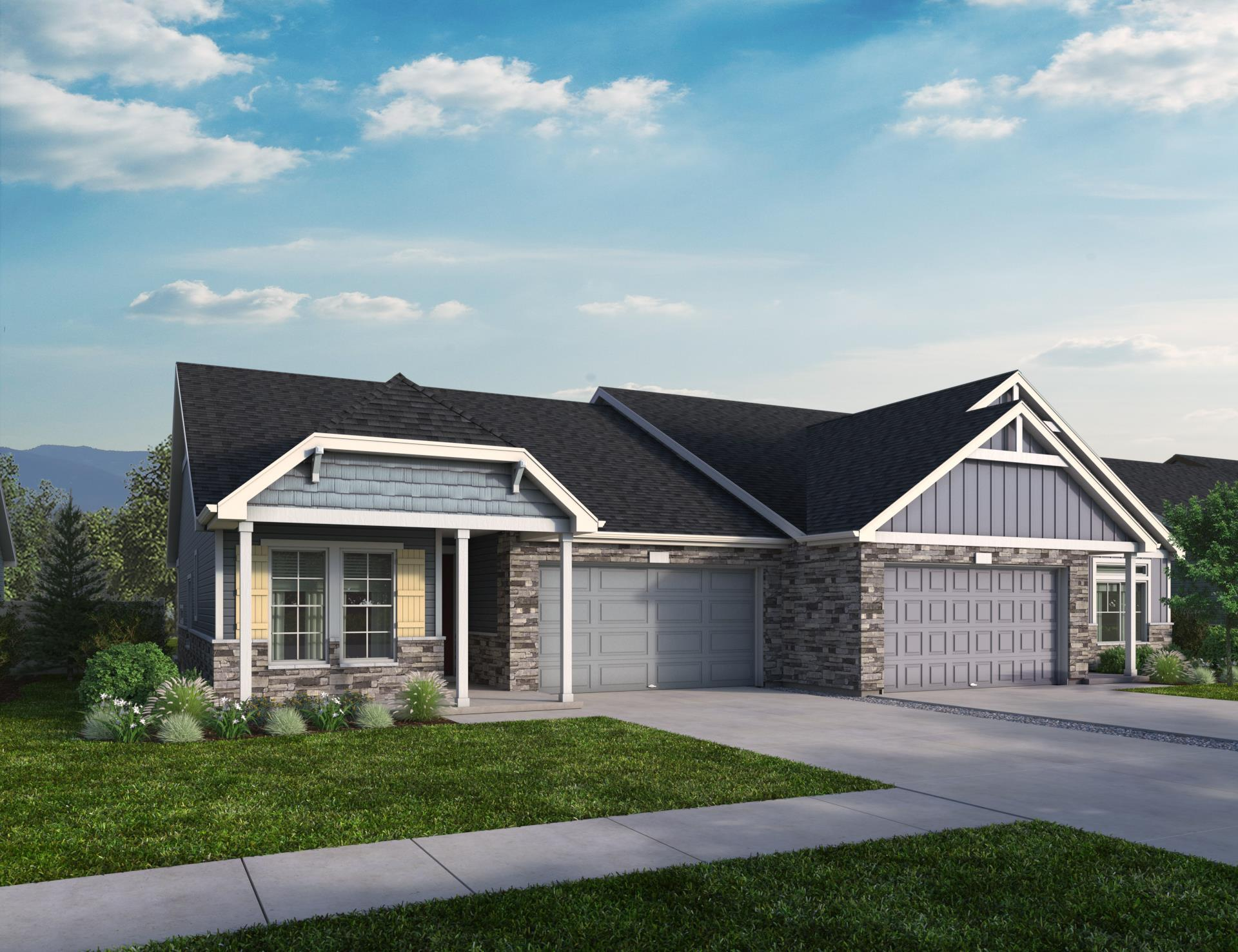 Exterior featured in the Raymond By Oakwood Homes Colorado in Colorado Springs, CO