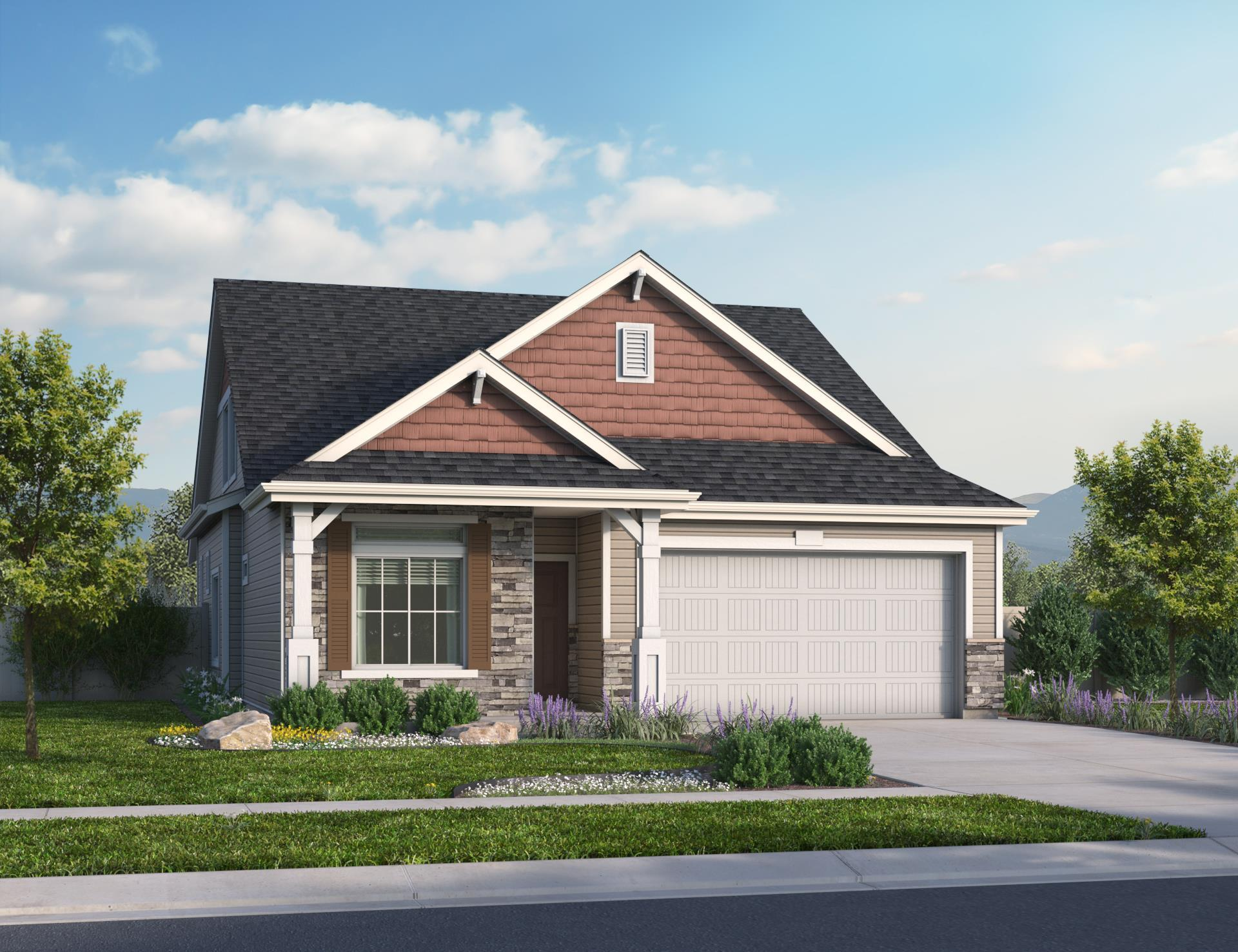 Exterior featured in the Harbor By Oakwood Homes Colorado in Colorado Springs, CO