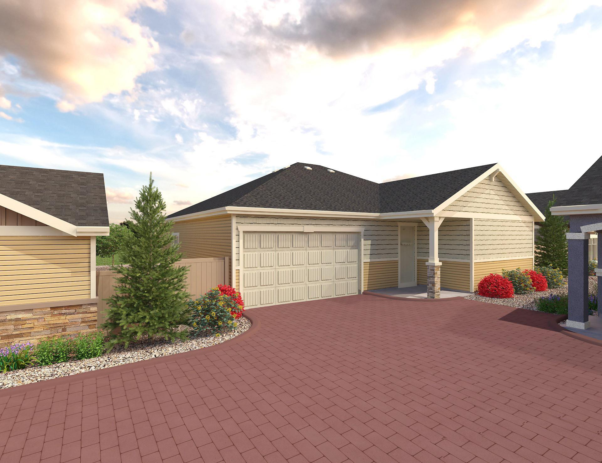 Exterior featured in the Conifer By Oakwood Homes Colorado in Colorado Springs, CO