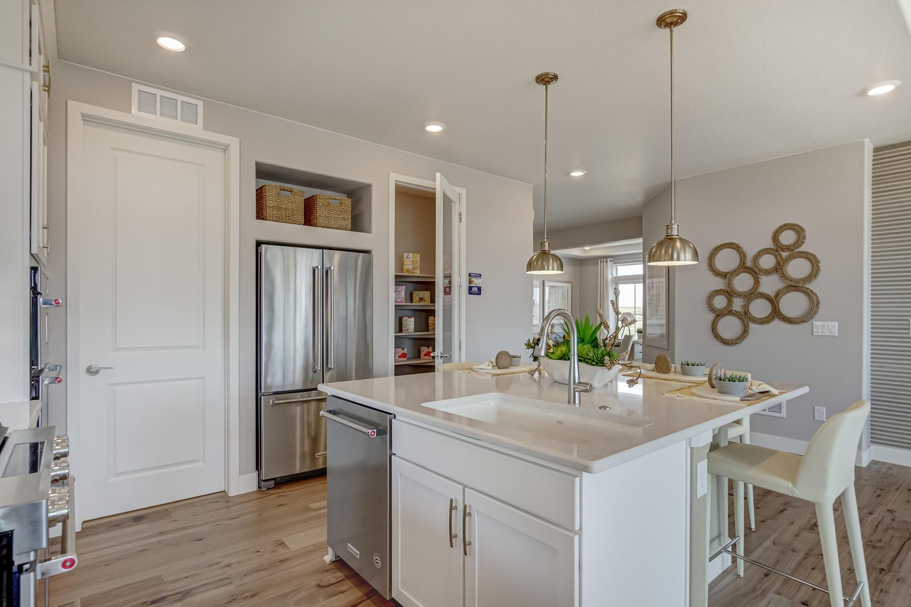Kitchen featured in the Harbor By OakwoodLife in Denver, CO