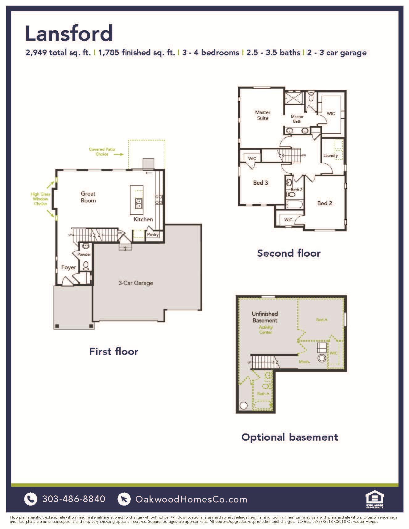 Lansford Plan At Thompson River Ranch In Johnstown Co By Oakwood Homes Colorado