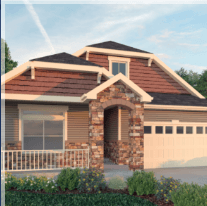 Exterior featured in the  Crestone  By Oakwood Homes in Denver, CO