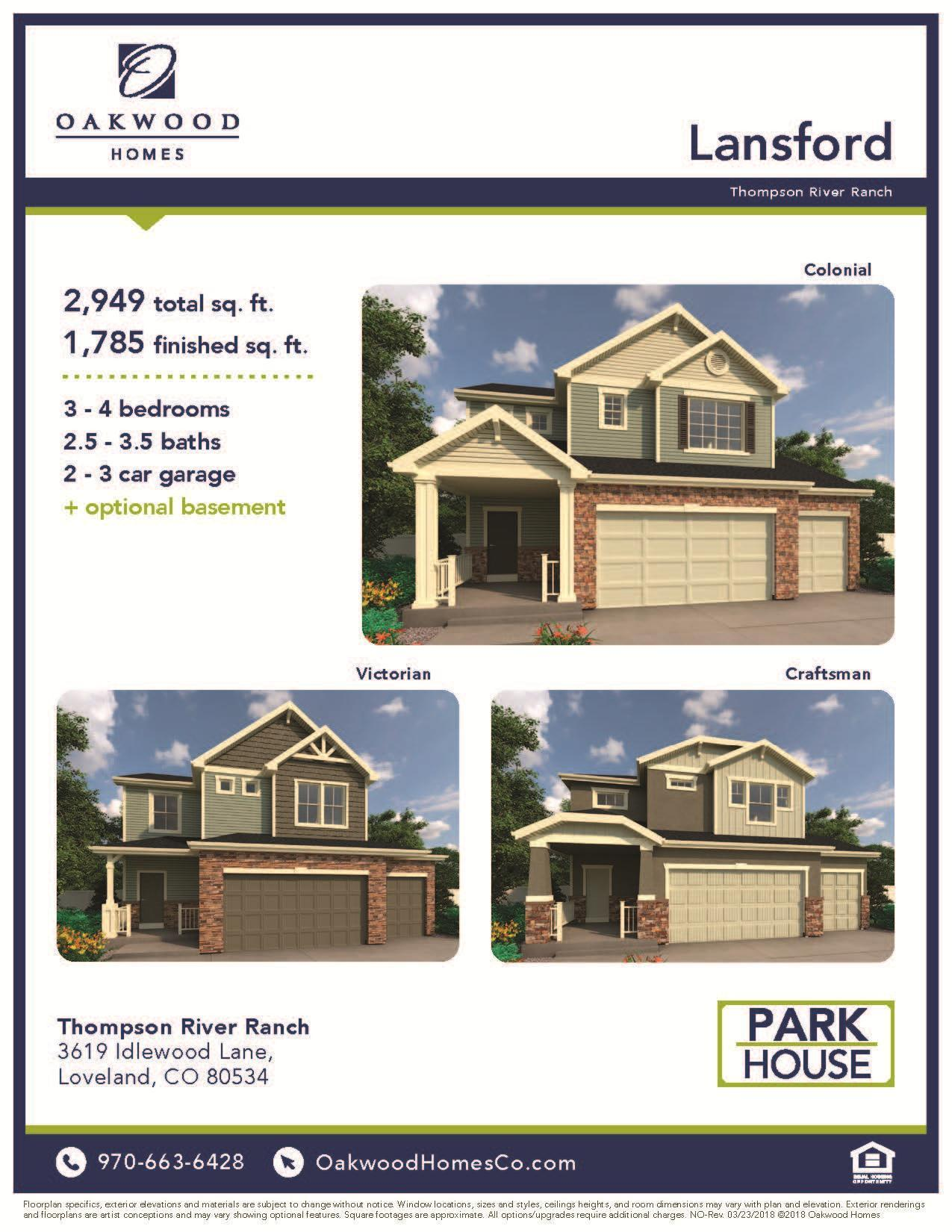 Exterior featured in the Lansford By Oakwood Homes Colorado in Fort Collins-Loveland, CO