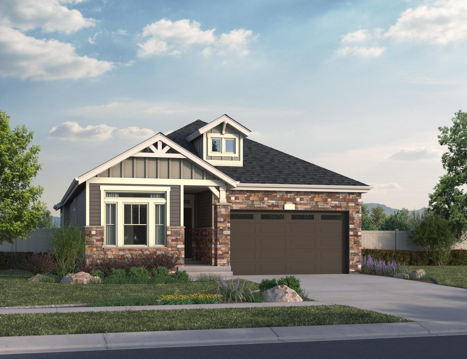 Exterior featured in the Apex By Oakwood Homes in Denver, CO