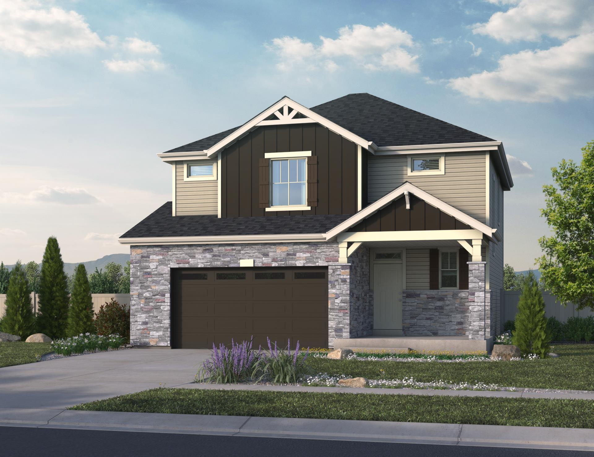 Exterior featured in the Crescendo By Oakwood Homes in Denver, CO