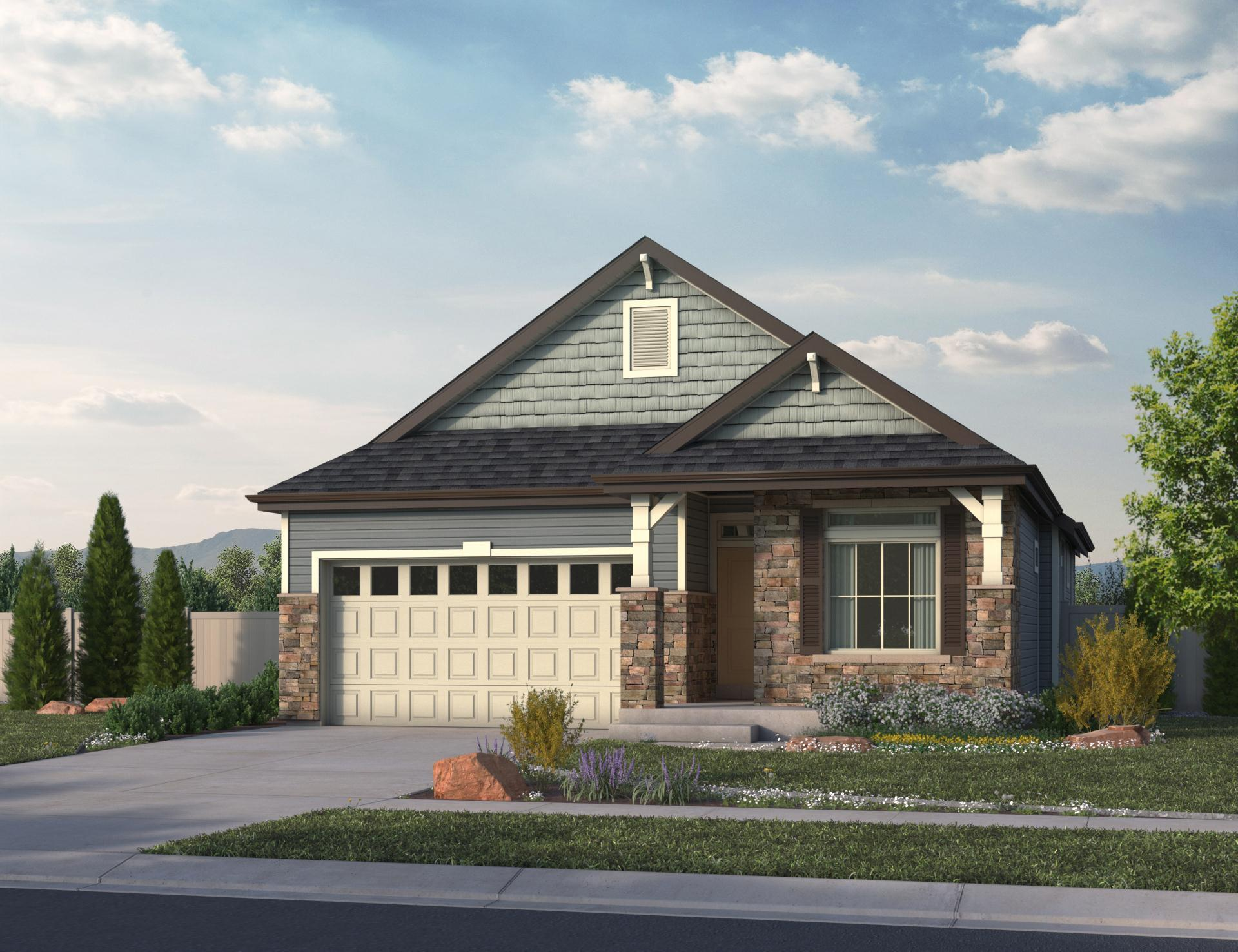 Exterior featured in the Summit  By Oakwood Homes Colorado in Denver, CO