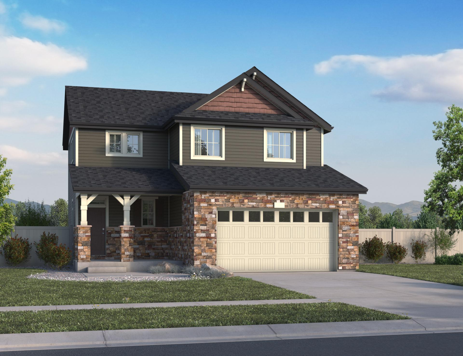 Exterior featured in the Zenith By Oakwood Homes in Denver, CO