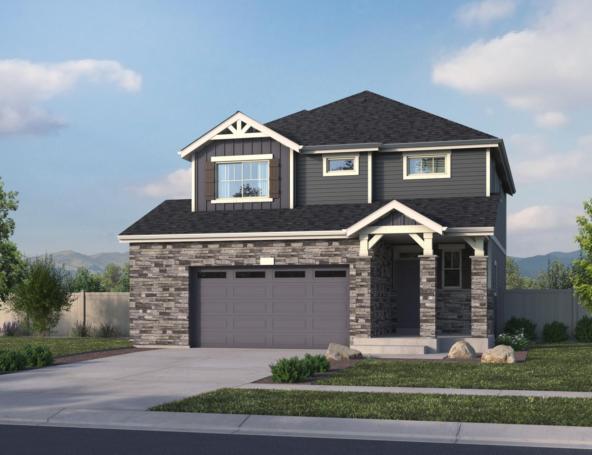 Exterior featured in the Capstone By Oakwood Homes Colorado in Denver, CO