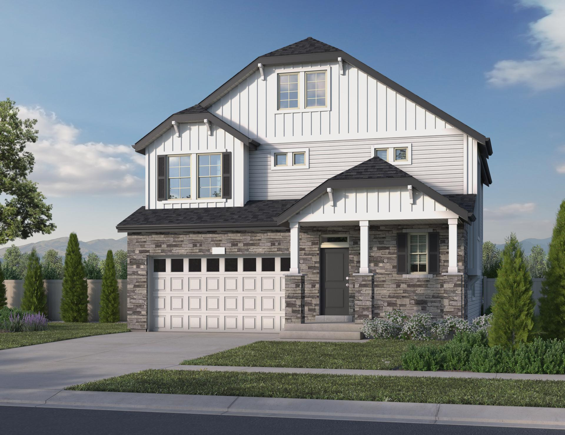 Exterior featured in the Pinnacle By Oakwood Homes Colorado in Denver, CO