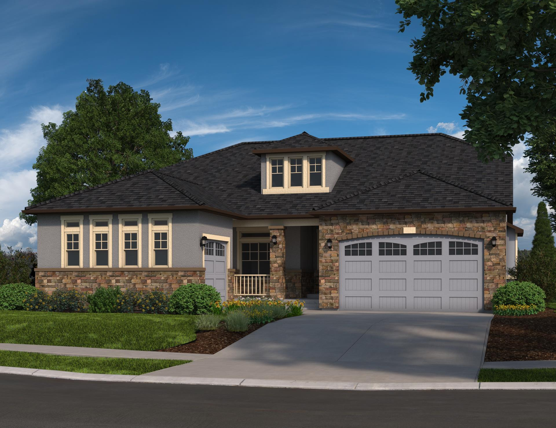 Exterior featured in the Arrabelle By Oakwood Homes Colorado in Denver, CO