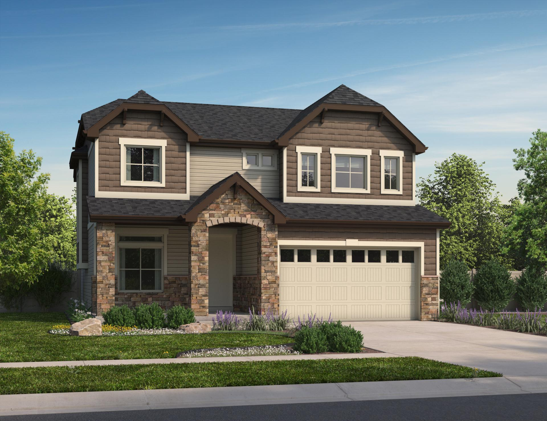 Exterior featured in the Bennet By Oakwood Homes Colorado in Denver, CO