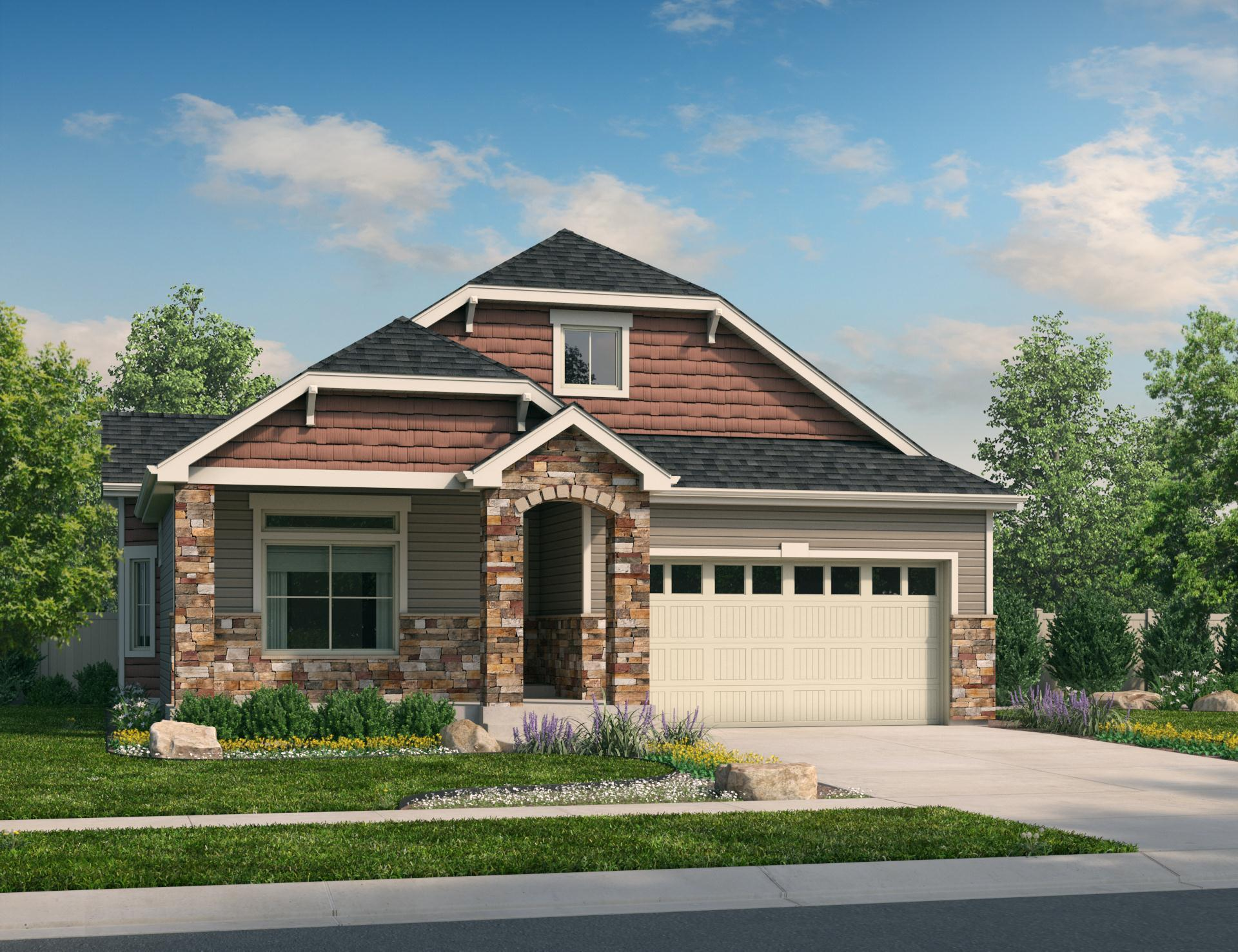 Exterior featured in the Crestone By Oakwood Homes in Fort Collins-Loveland, CO