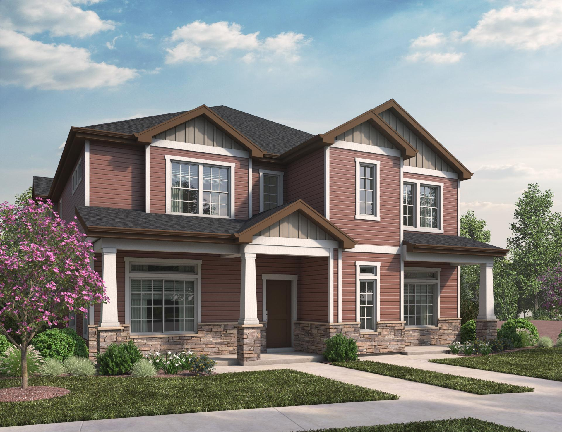 Exterior featured in the Silverton By Oakwood Homes Colorado in Denver, CO