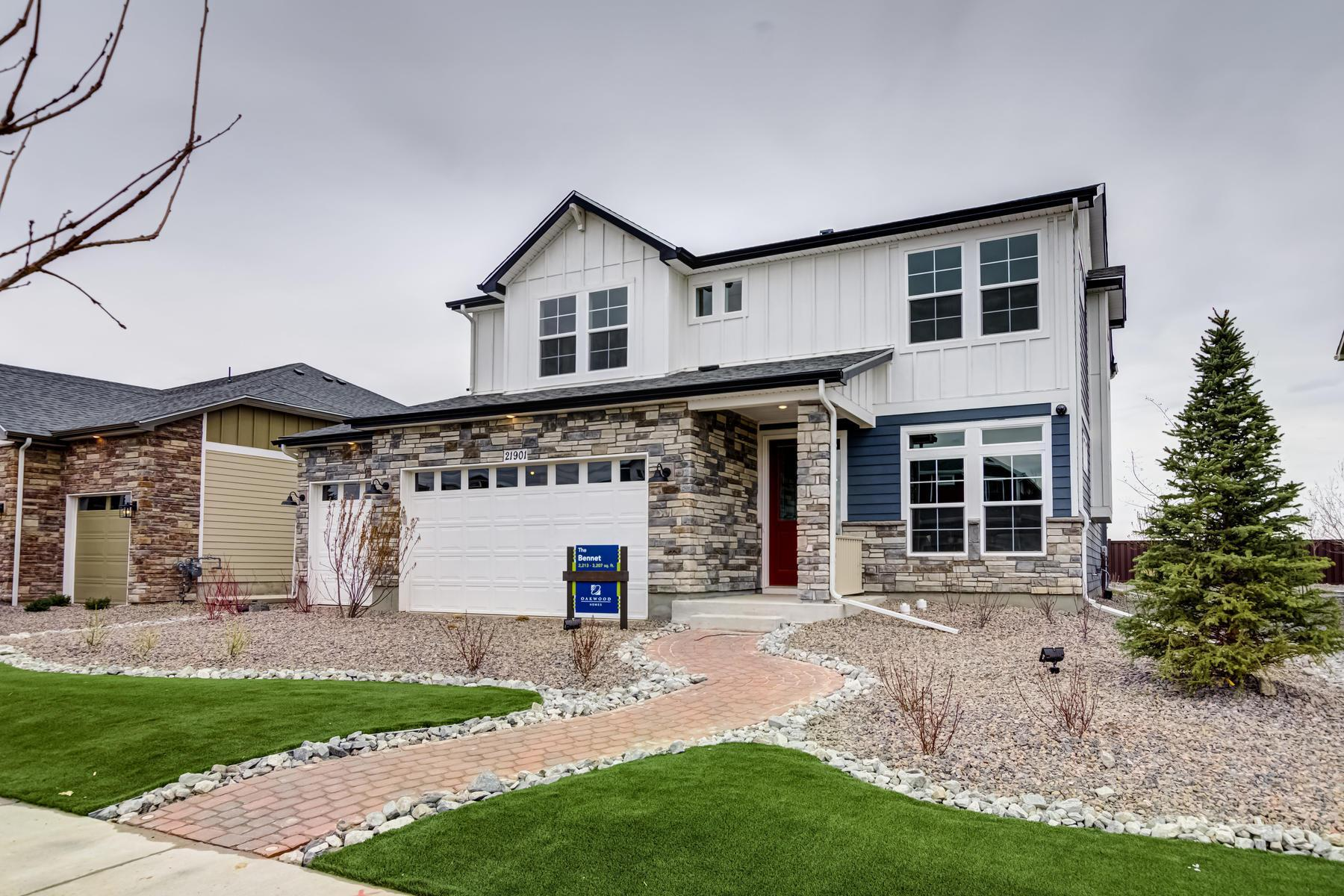 Exterior featured in the BENNET By Oakwood Homes in Denver, CO