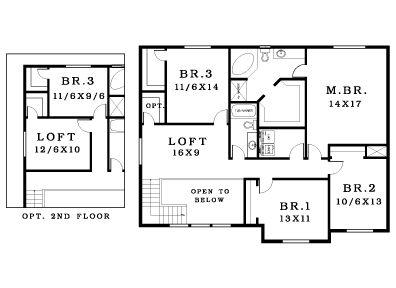 Oak 2712 Plan, Kalama, Washington 98625 - Oak 2712 Plan at ... Br Story Home Floor Plans on