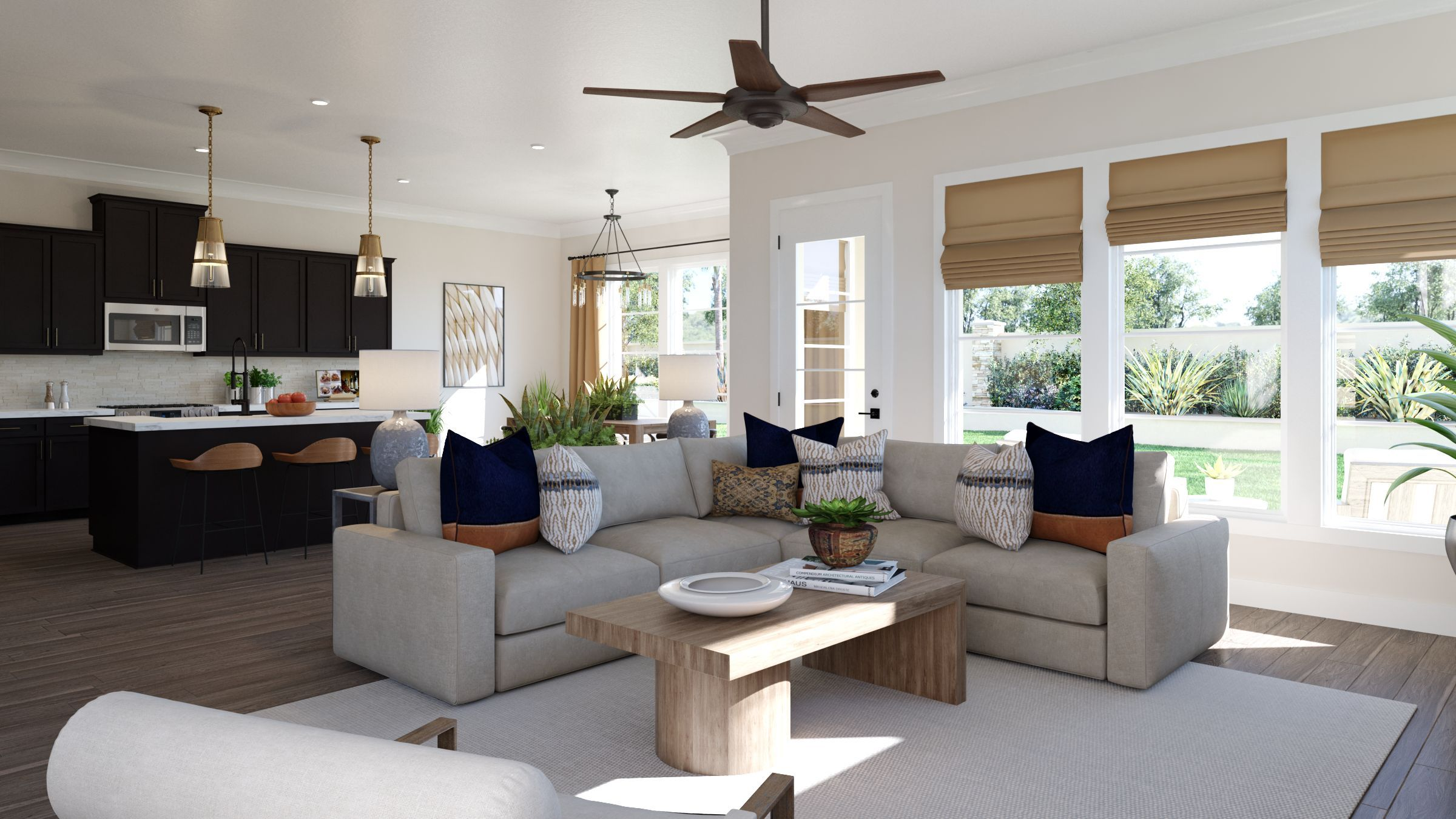 Living Area featured in the Shiloh By Olivia Clarke Homes  in Dallas, TX