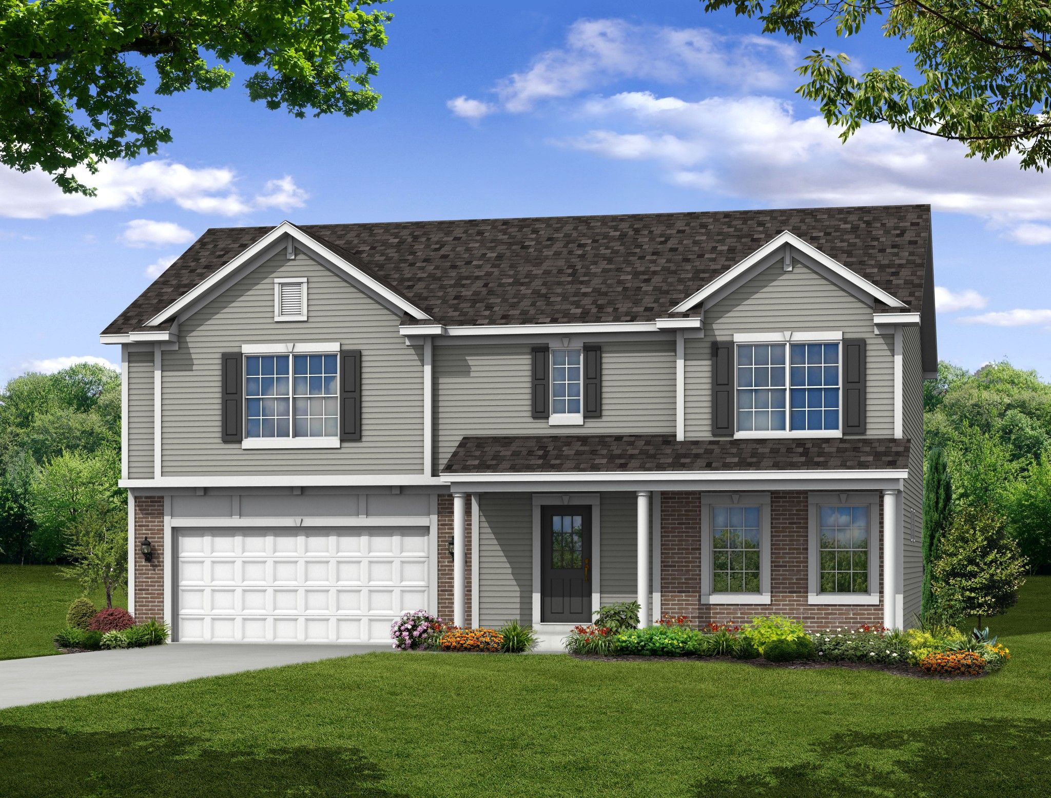 Exterior featured in the Brookfield By Olthof Homes in Gary, IN