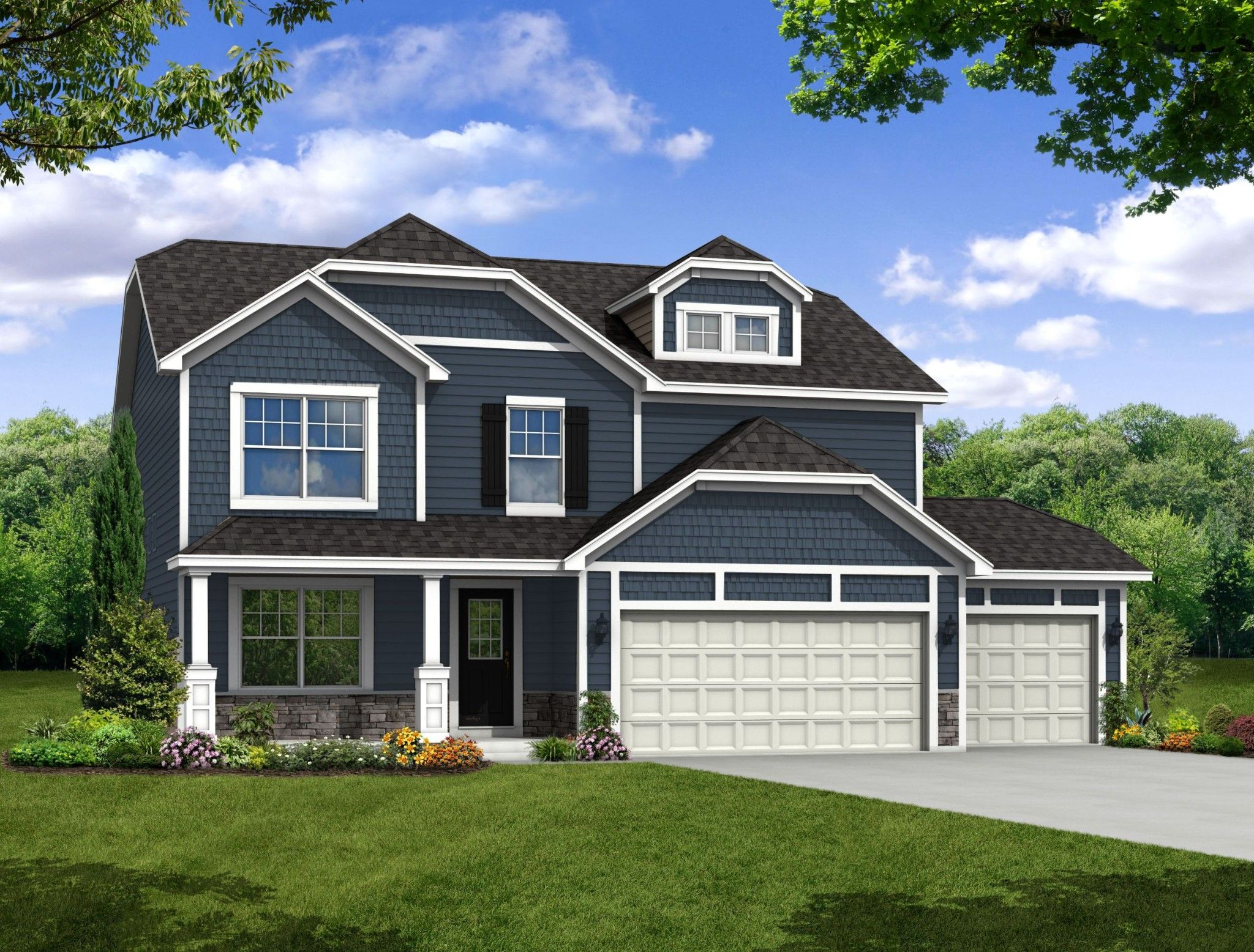 Exterior featured in the Baymont By Olthof Homes in Gary, IN