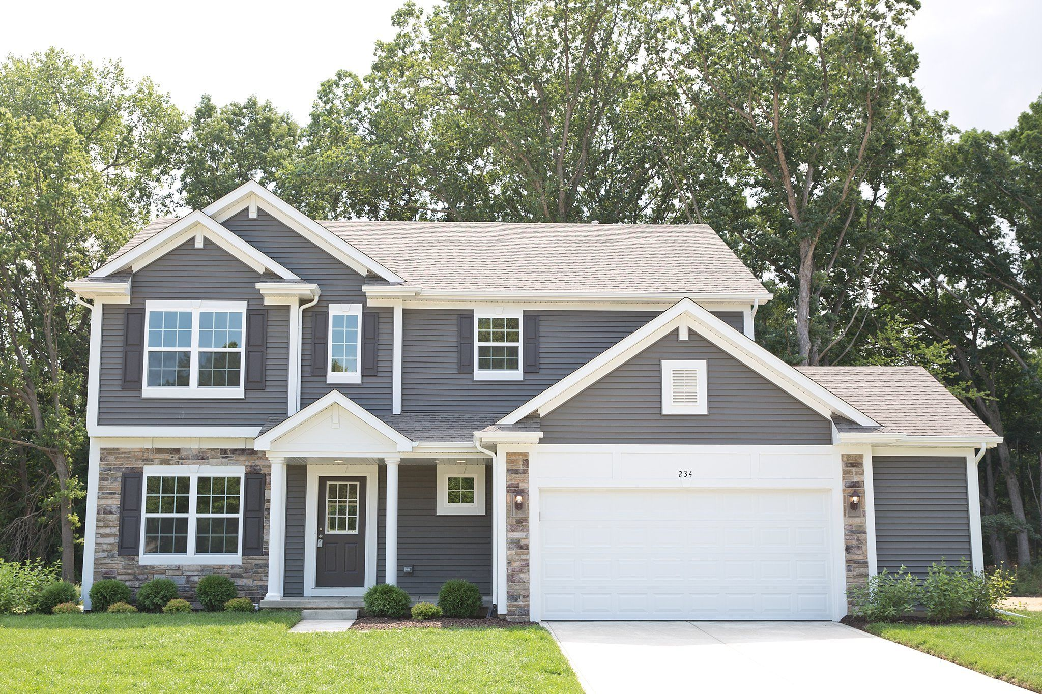 Exterior featured in the Sequoia By Olthof Homes in Gary, IN
