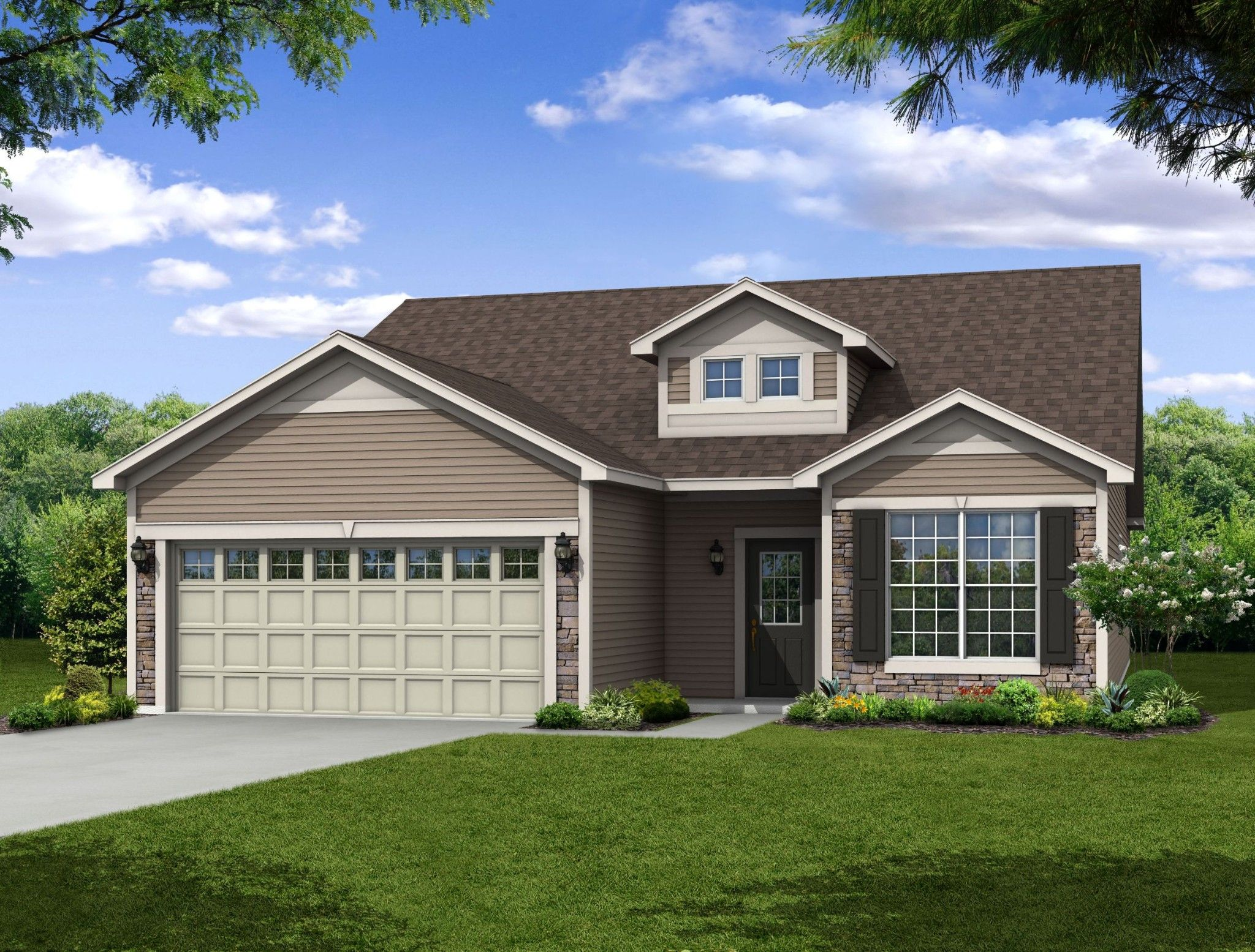 Exterior featured in the Arvada By Olthof Homes in Gary, IN
