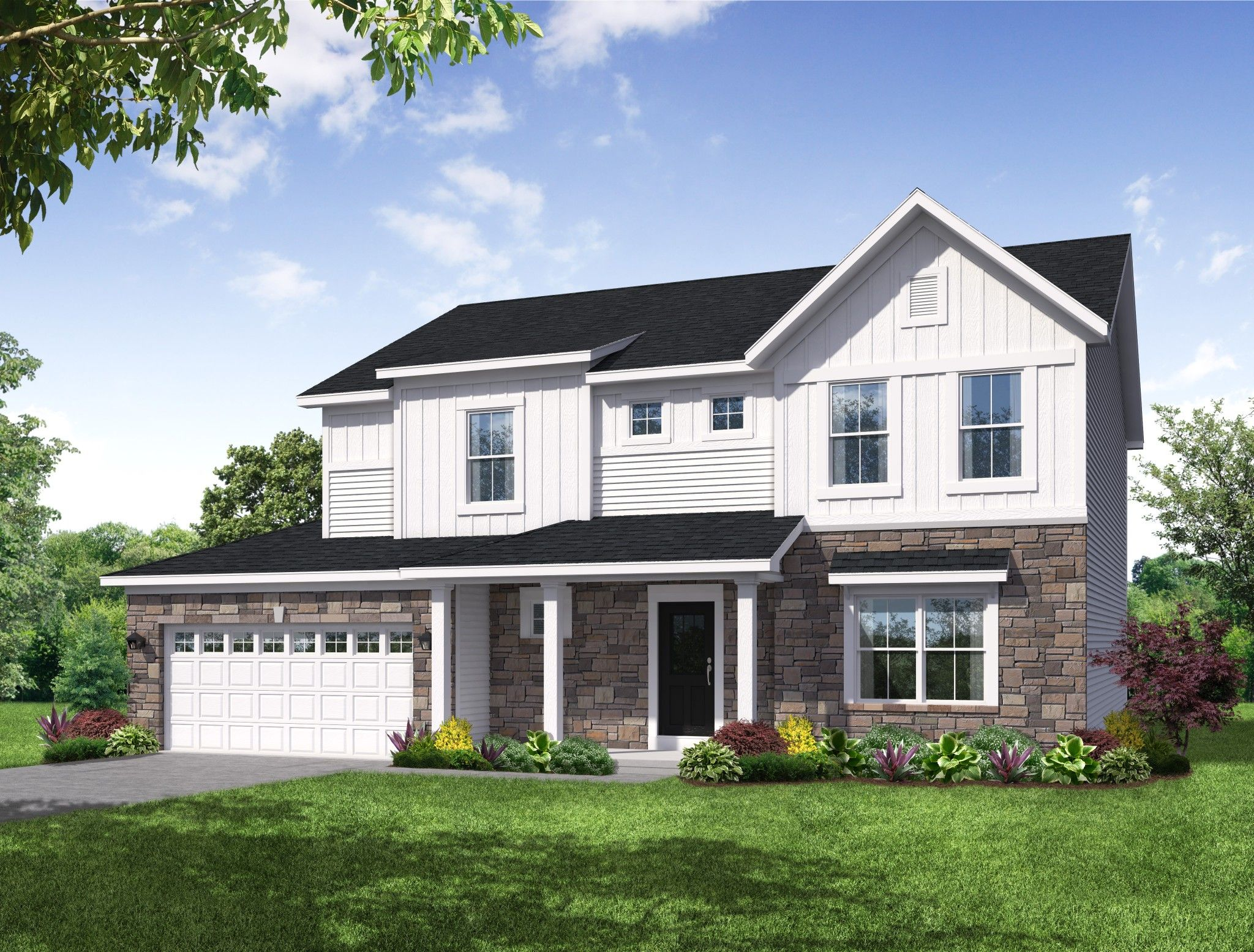 Exterior featured in the Berkley By Olthof Homes in Fort Wayne, IN