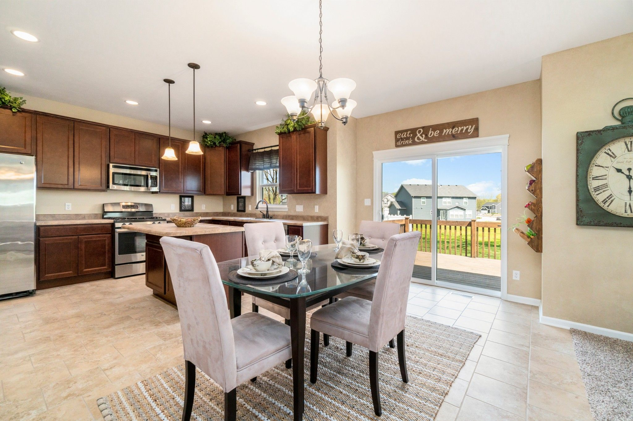 Kitchen featured in the Kipling By Olthof Homes in Gary, IN