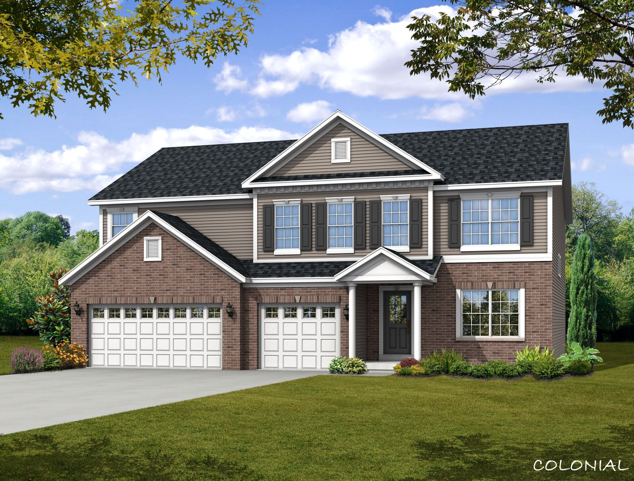 Exterior featured in the Preston By Olthof Homes in Fort Wayne, IN