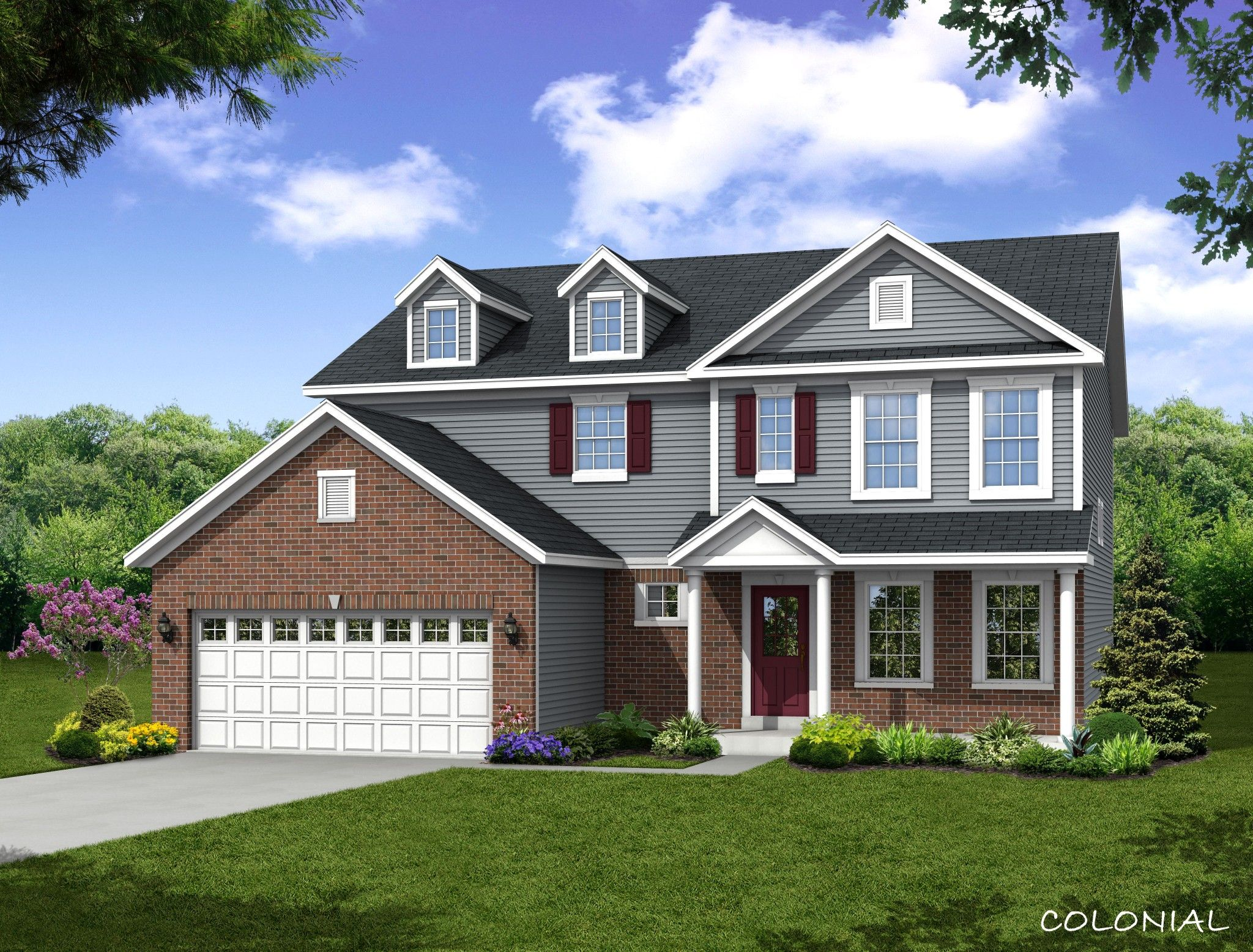 Exterior featured in the Sonoma By Olthof Homes in Indianapolis, IN