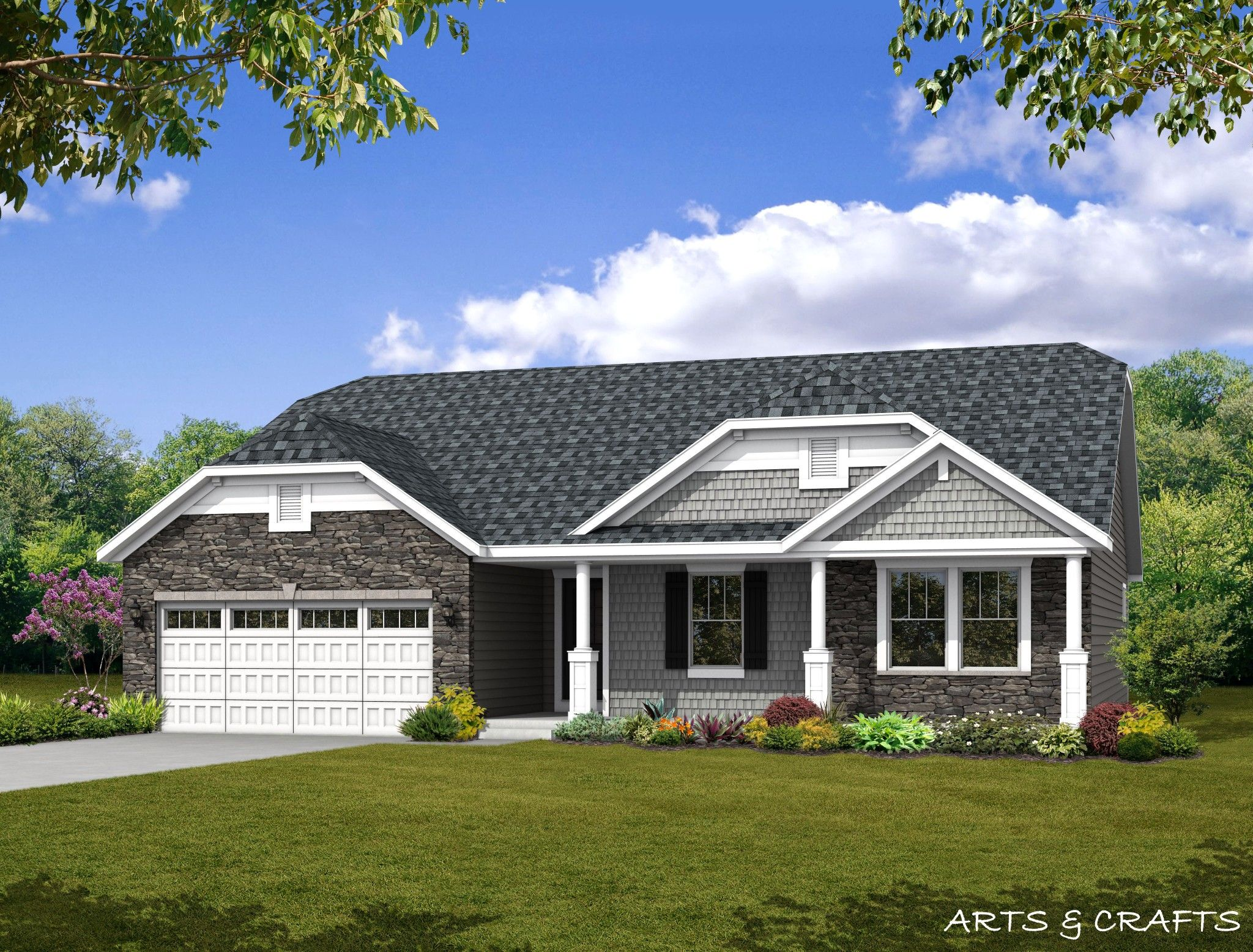 Exterior featured in the Huntington By Olthof Homes in Fort Wayne, IN