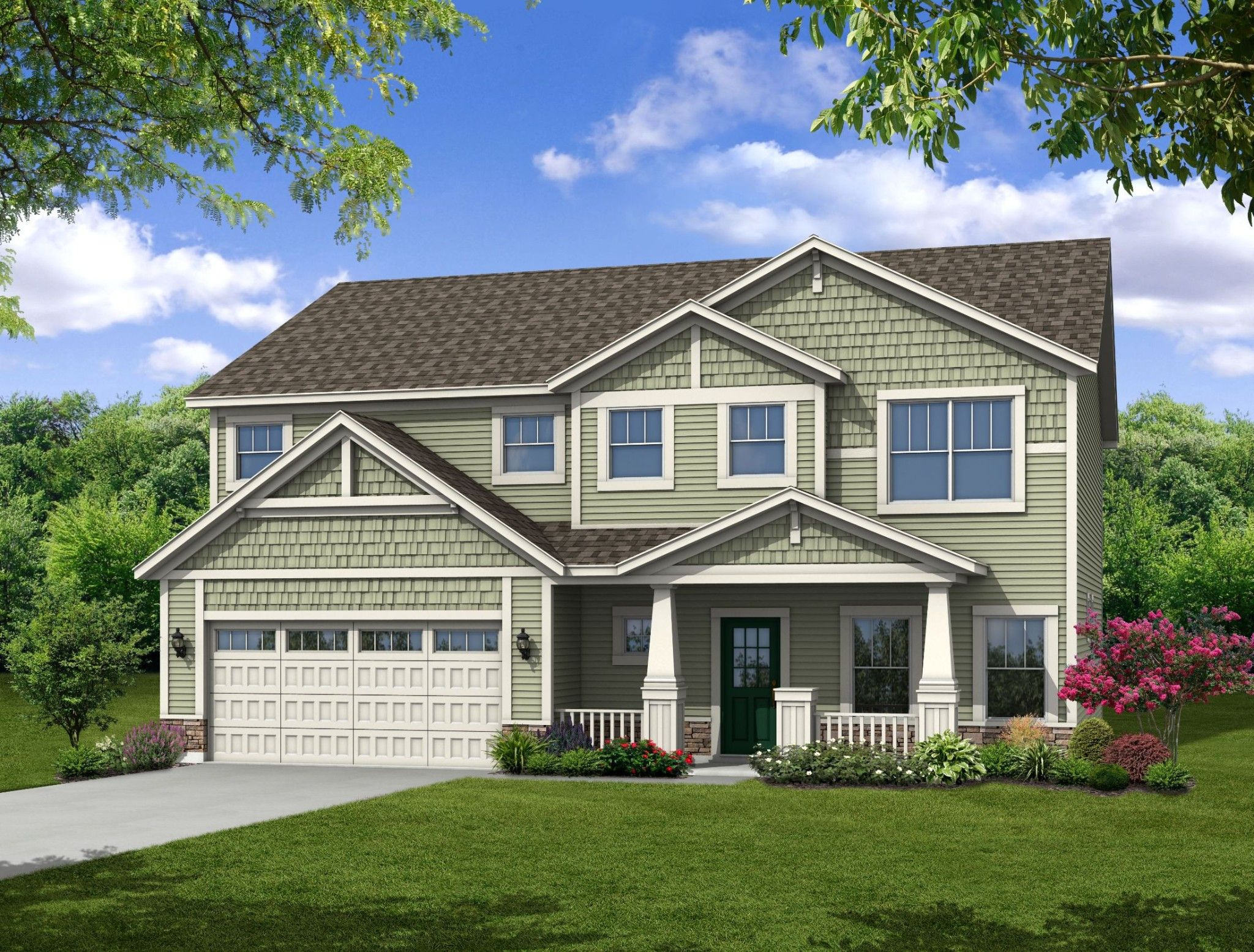 Exterior featured in the Reunion By Olthof Homes in Indianapolis, IN