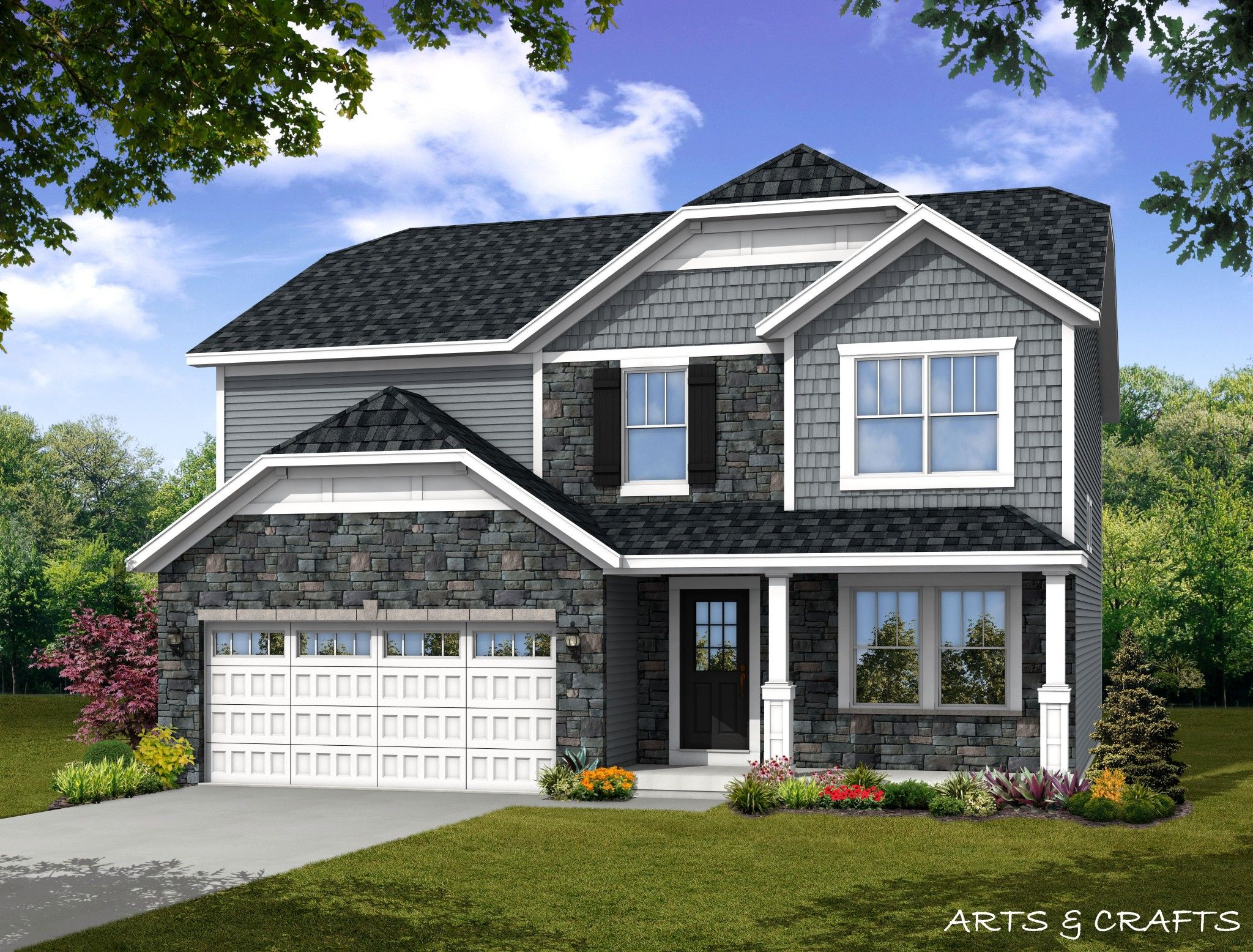 Exterior featured in the Dover By Olthof Homes in Fort Wayne, IN