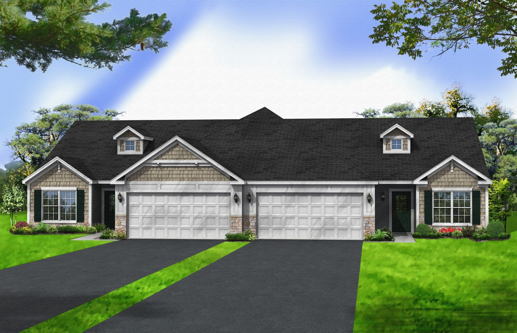 Exterior featured in the Aria By Olthof Homes in Indianapolis, IN