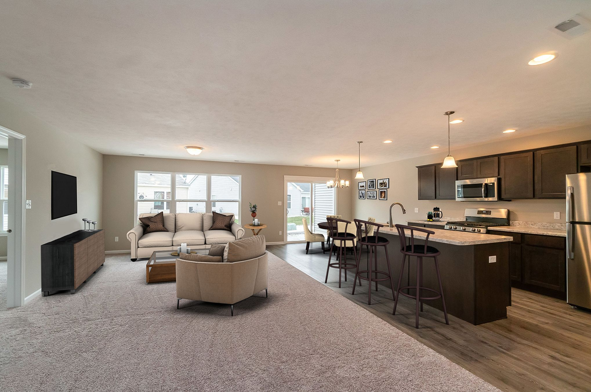 Living Area featured in the Aria By Olthof Homes in Indianapolis, IN