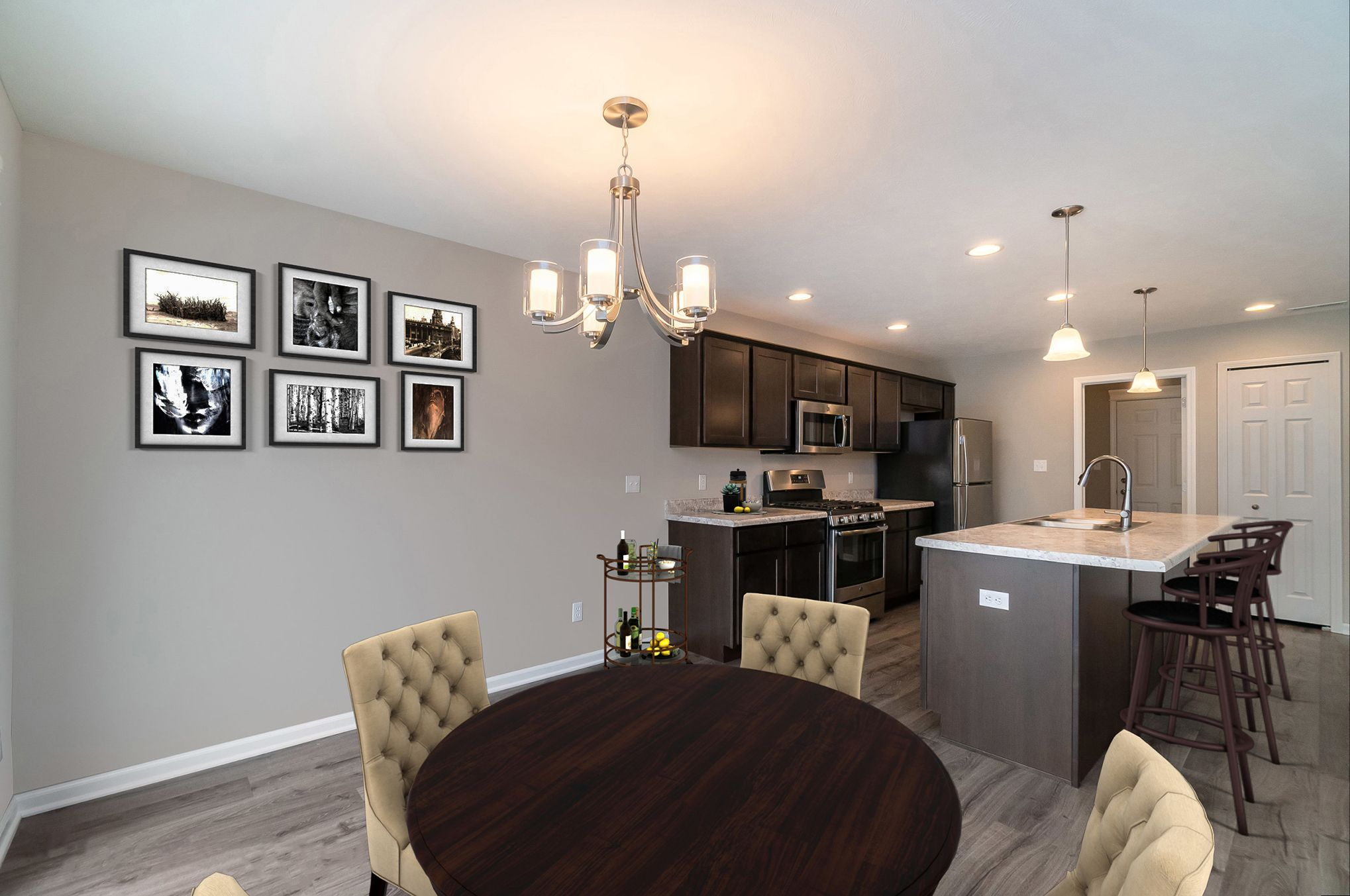 Kitchen featured in the Aria By Olthof Homes in Indianapolis, IN