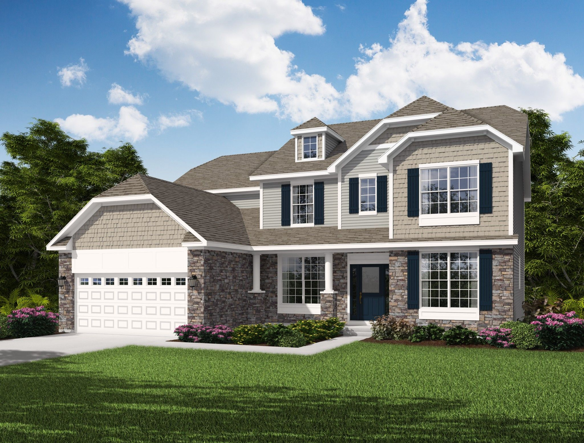 Exterior featured in the Larkspur By Olthof Homes in Gary, IN