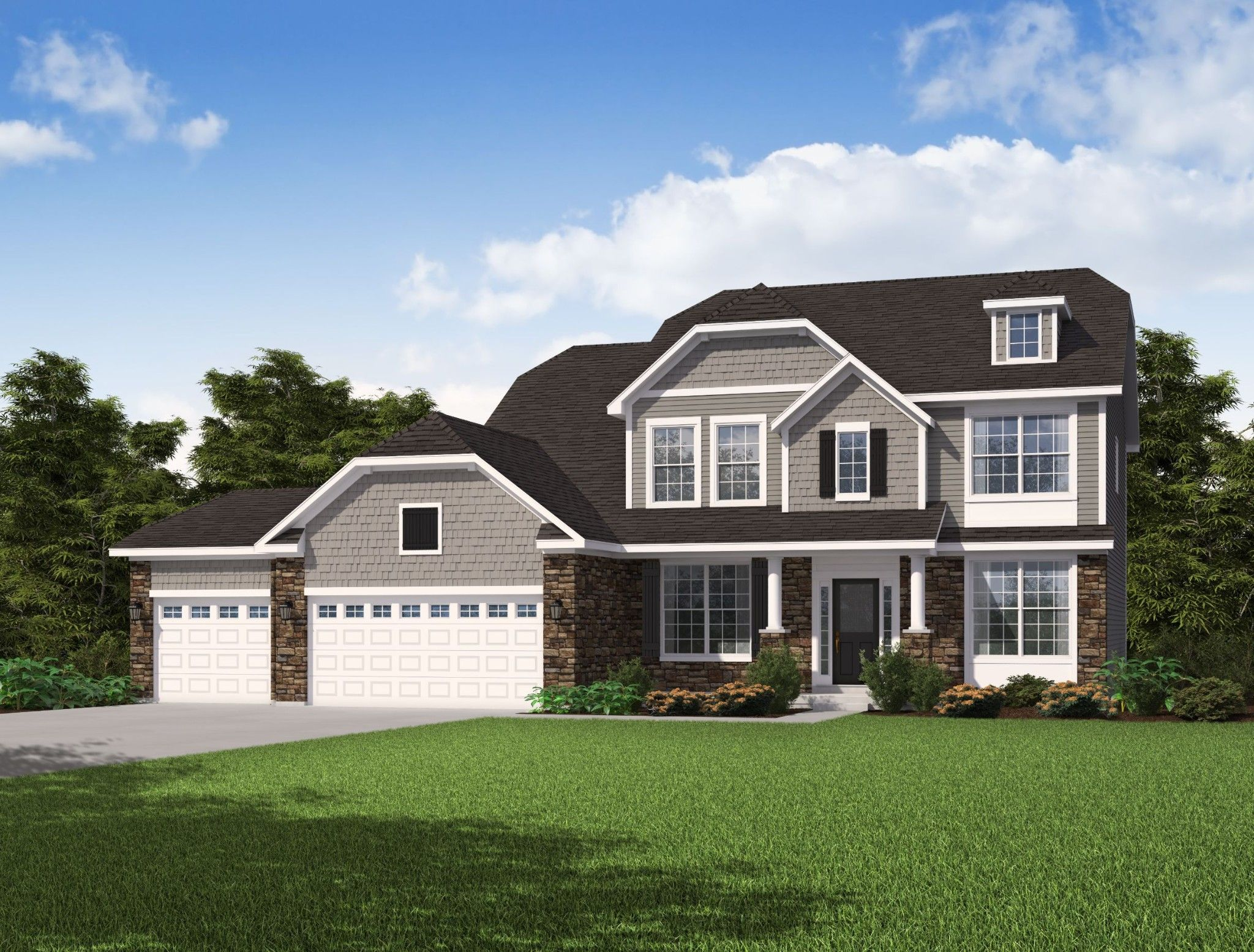 Exterior featured in the Sierra By Olthof Homes in Gary, IN