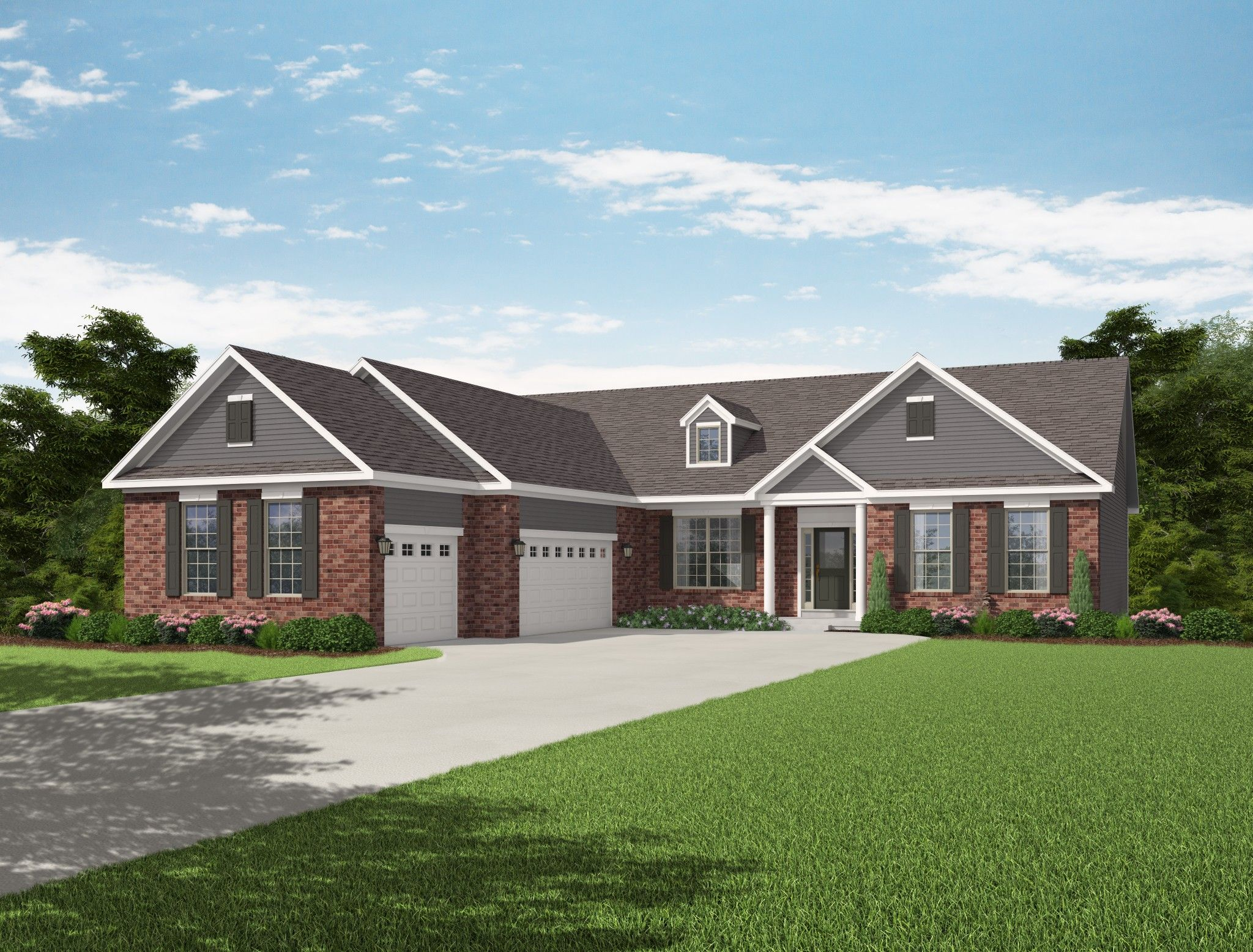 Exterior featured in the Chateau By Olthof Homes in Gary, IN
