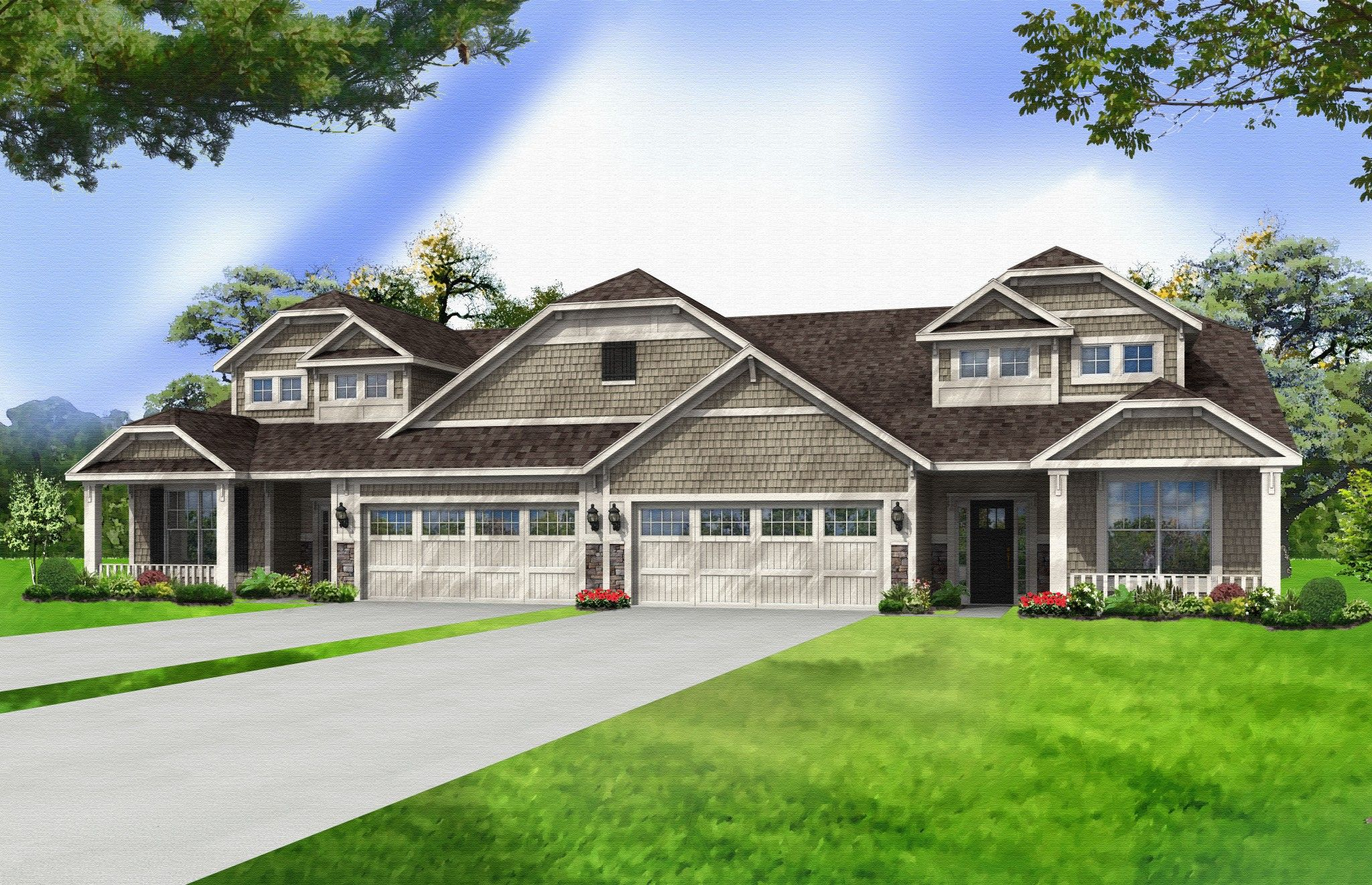 Exterior featured in the Nottingham By Olthof Homes in Gary, IN