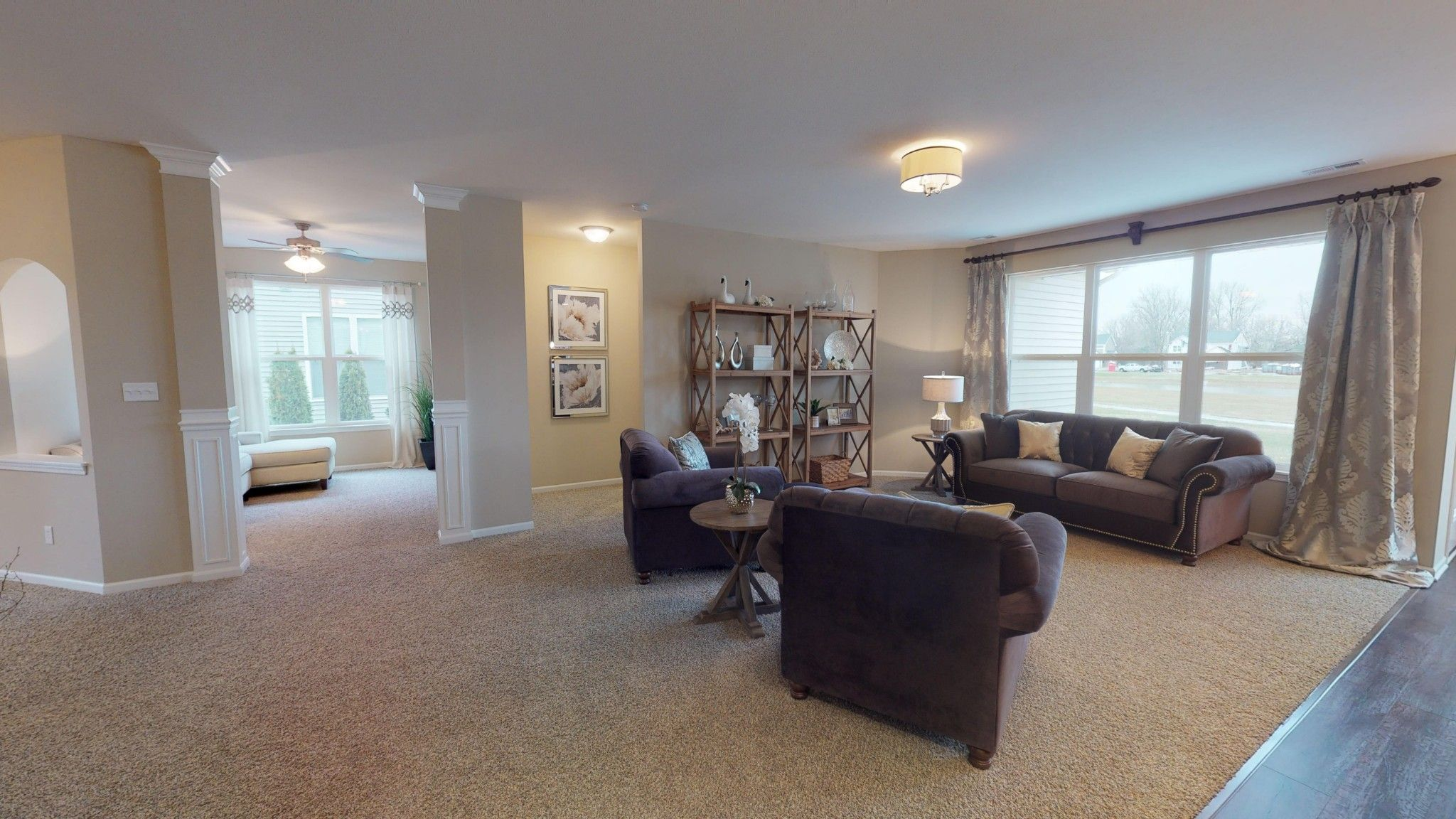 Living Area featured in the Nottingham By Olthof Homes in Gary, IN