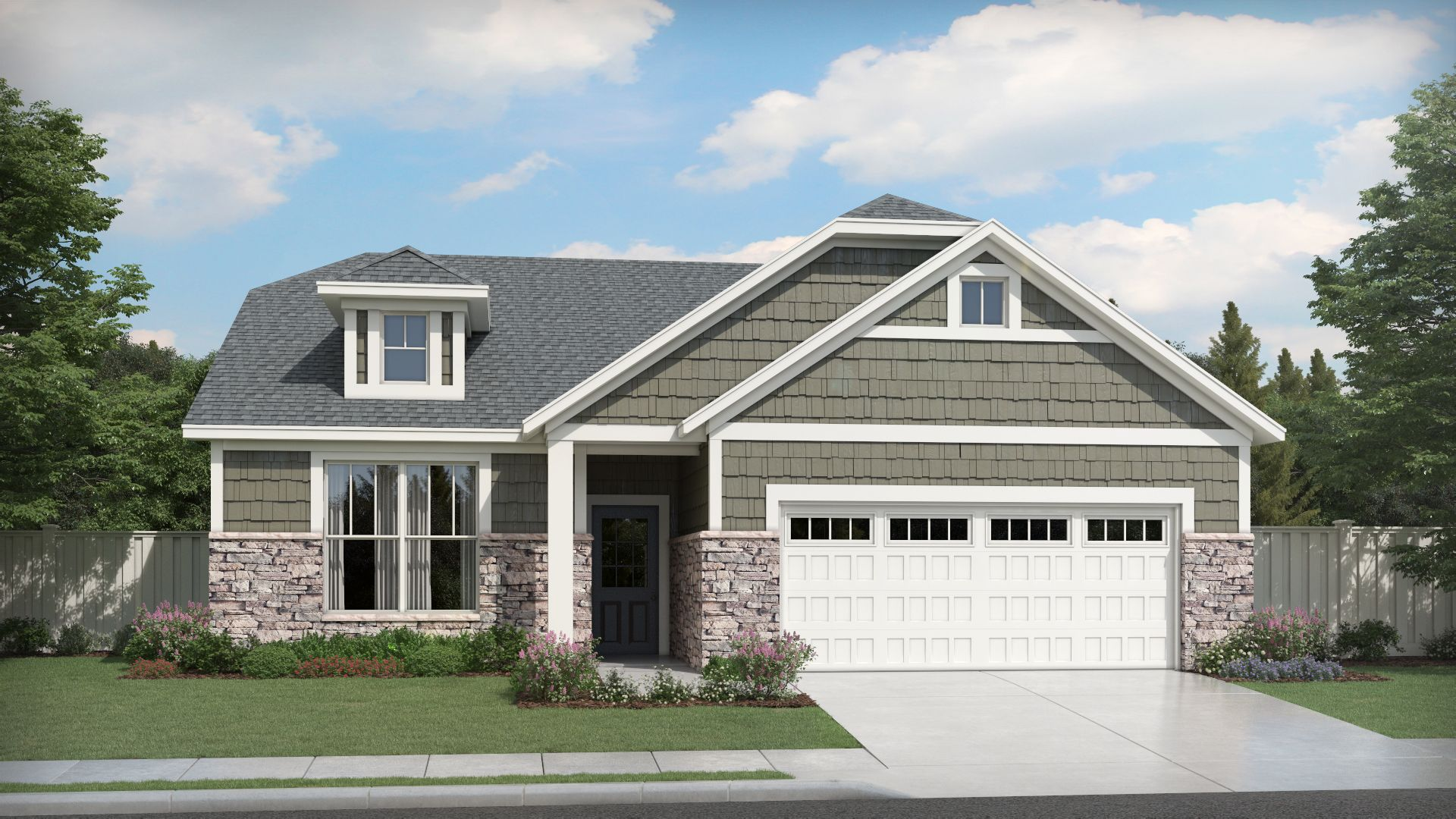 Exterior featured in the Sonata By Olthof Homes in Indianapolis, IN