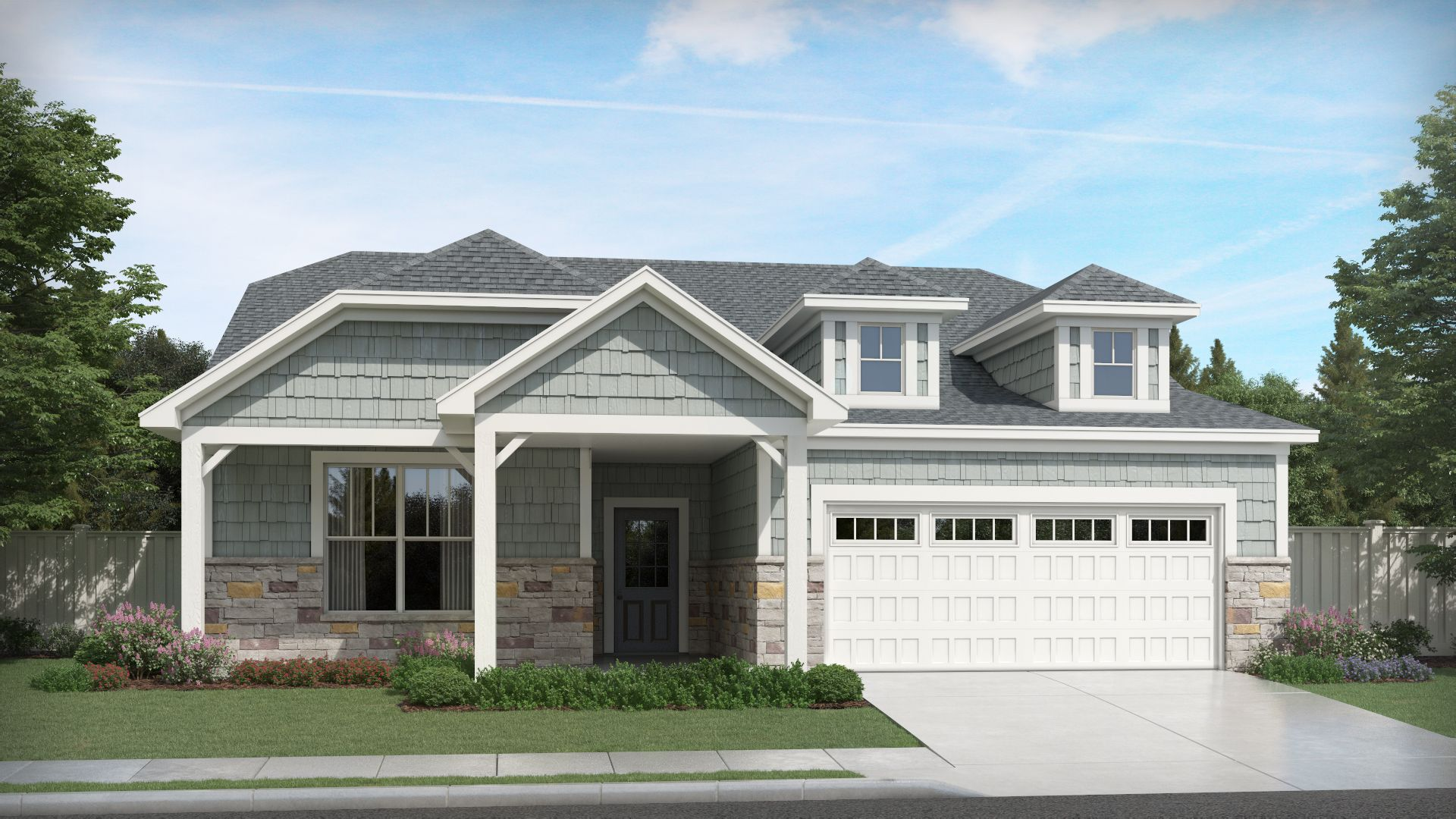 Exterior featured in the Adagio By Olthof Homes in Indianapolis, IN