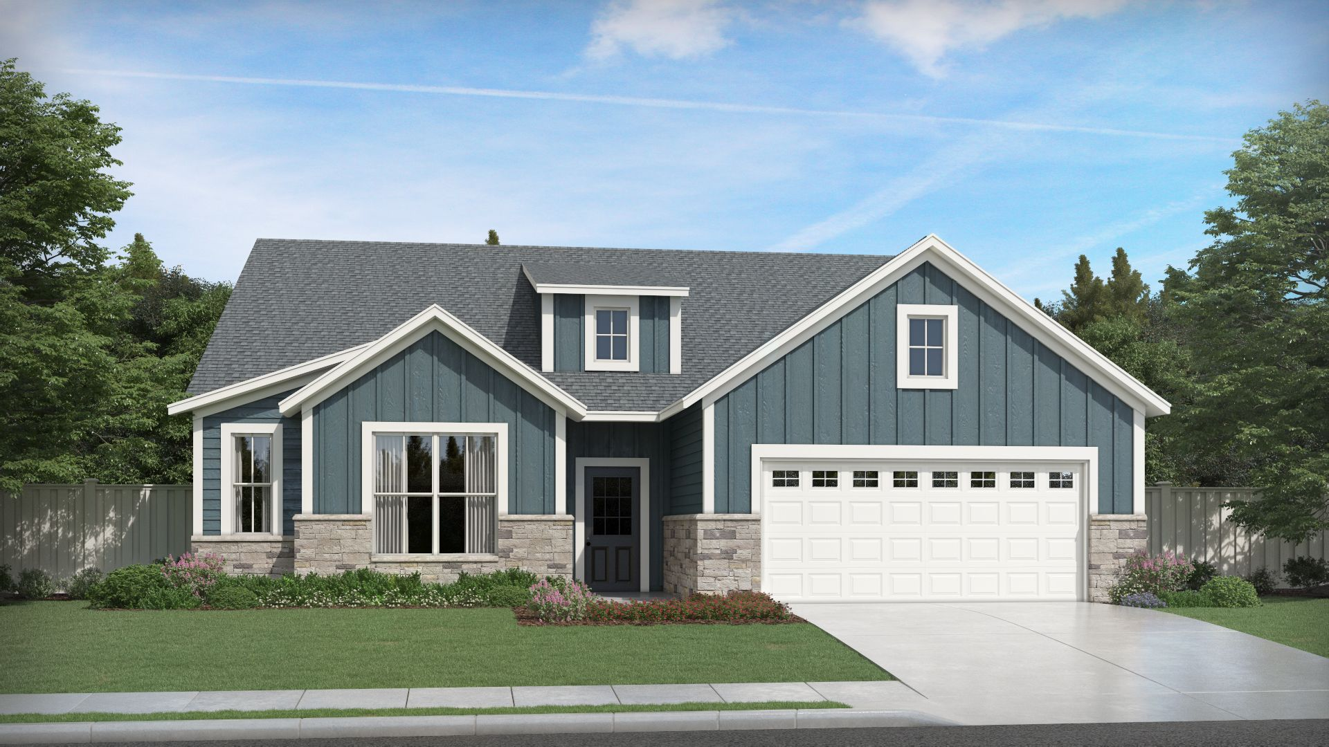 Exterior featured in the Cadenza By Olthof Homes in Indianapolis, IN
