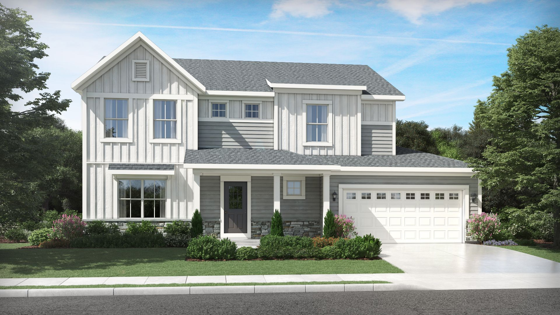 Exterior featured in the Keystone By Olthof Homes in Indianapolis, IN
