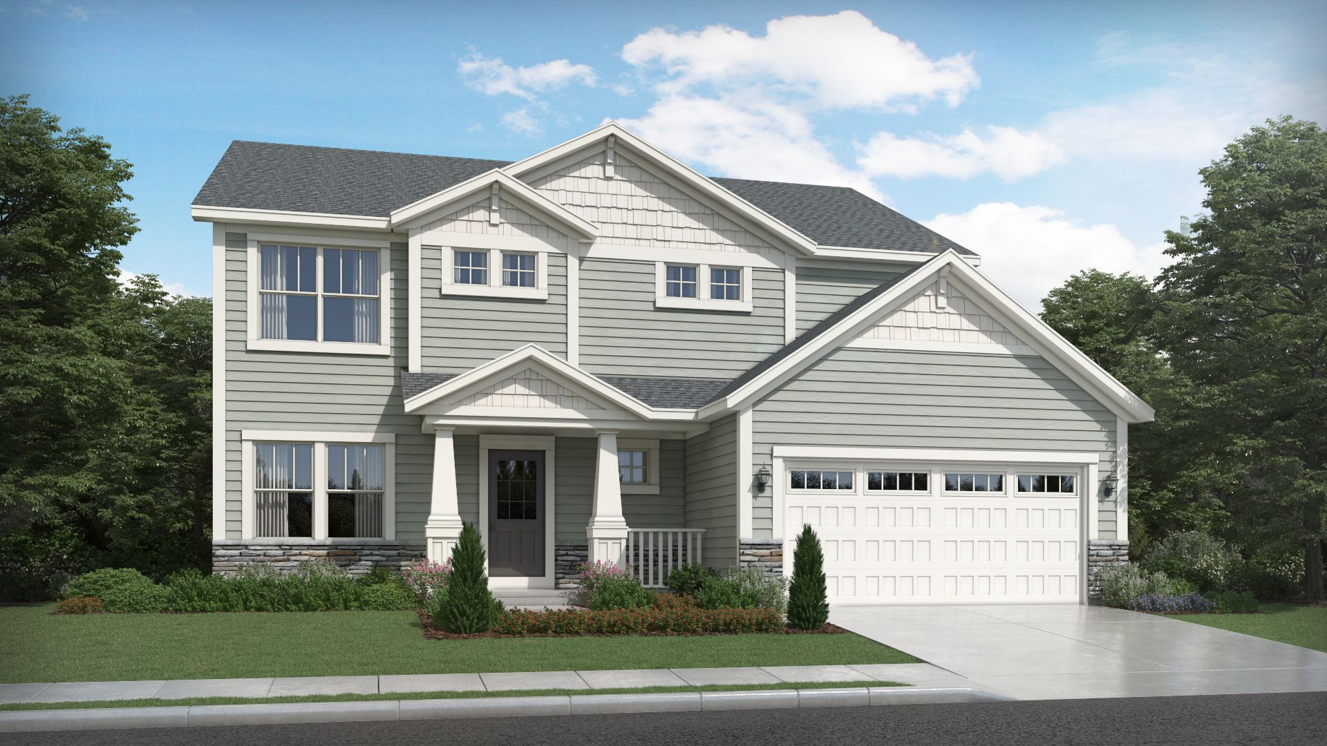 Exterior featured in the Sedona By Olthof Homes in Indianapolis, IN